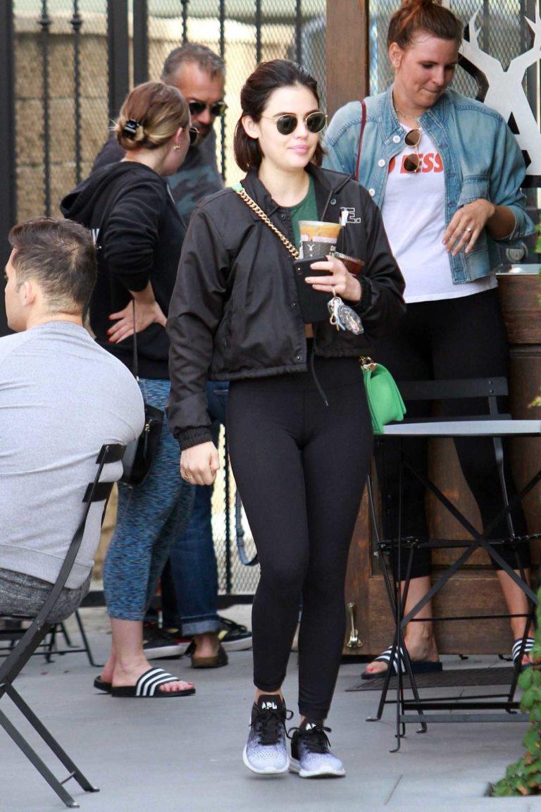 Lucy Hale in a Black Jacket