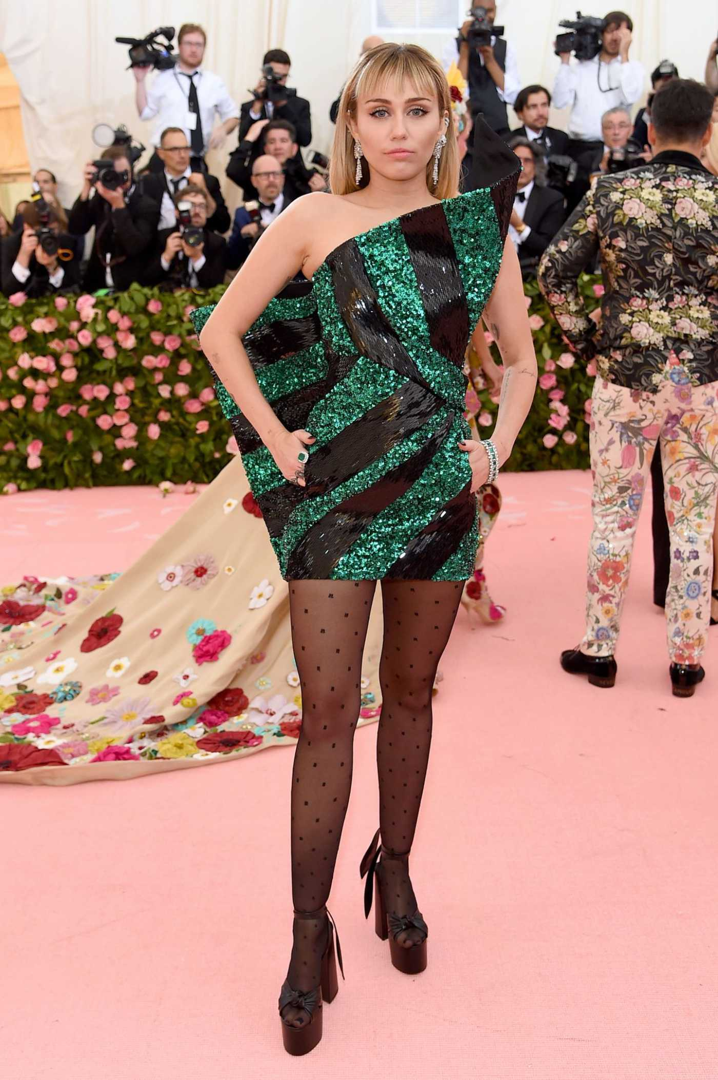 Miley Cyrus Attends the 2019 Met Gala Celebrating Camp: Notes on Fashion in NYC 05/06/2019