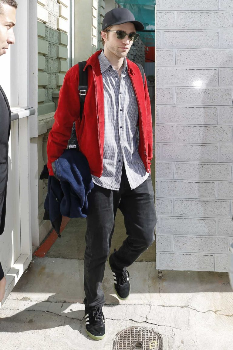 Robert Pattinson in a Red Jacket
