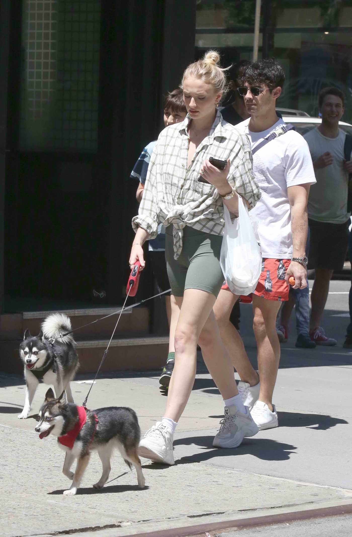 Sophie Turner Walks Her Dog Out with Joe Jonas in Lower Manhattan, NYC 05/18/2019