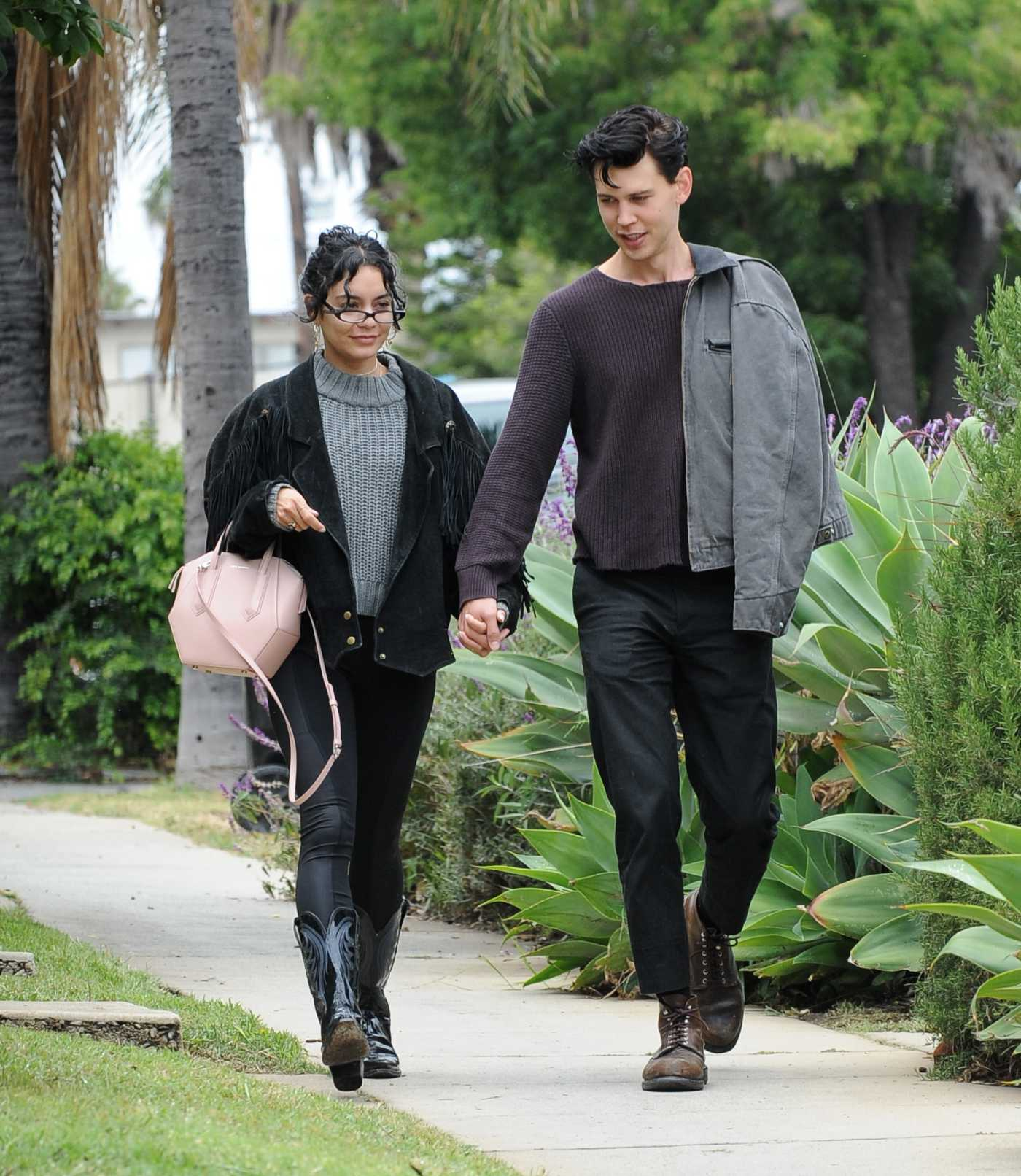 Vanessa Hudgens in a Black Jacket Was Seen Out with Austin Butler in Los Angeles 05/19/2019