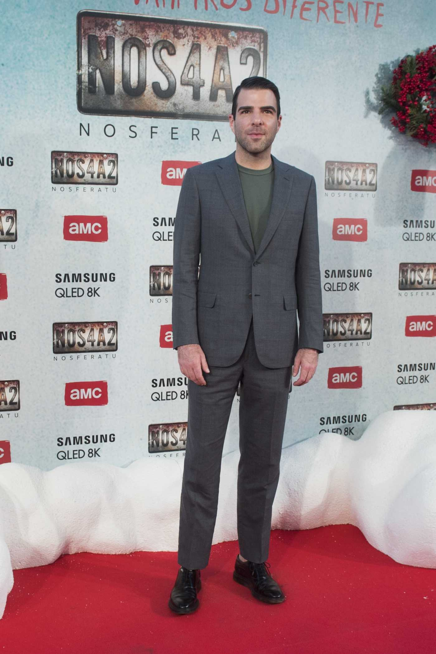 Zachary Quinto Attends the NOS4A2 Premiere in Madrid 05/21/2019