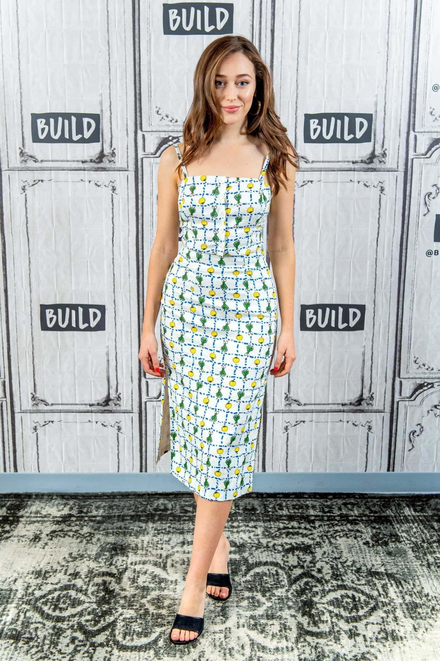Alycia Debnam-Carey Attends AOL Build Studio in New York City 06/03/2019