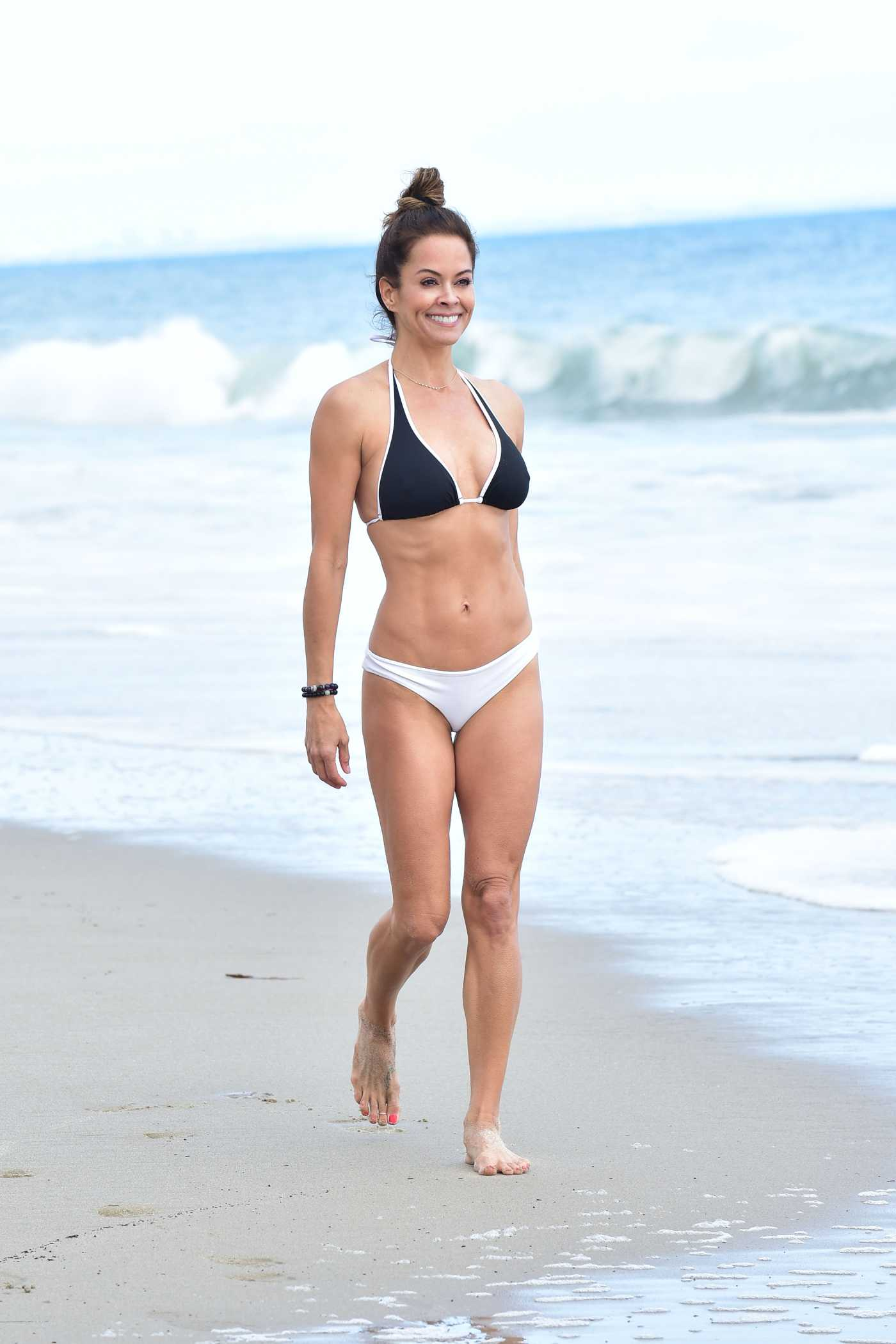 Brooke Burke in Bikini on the Beach in Malibu 06/09/2019