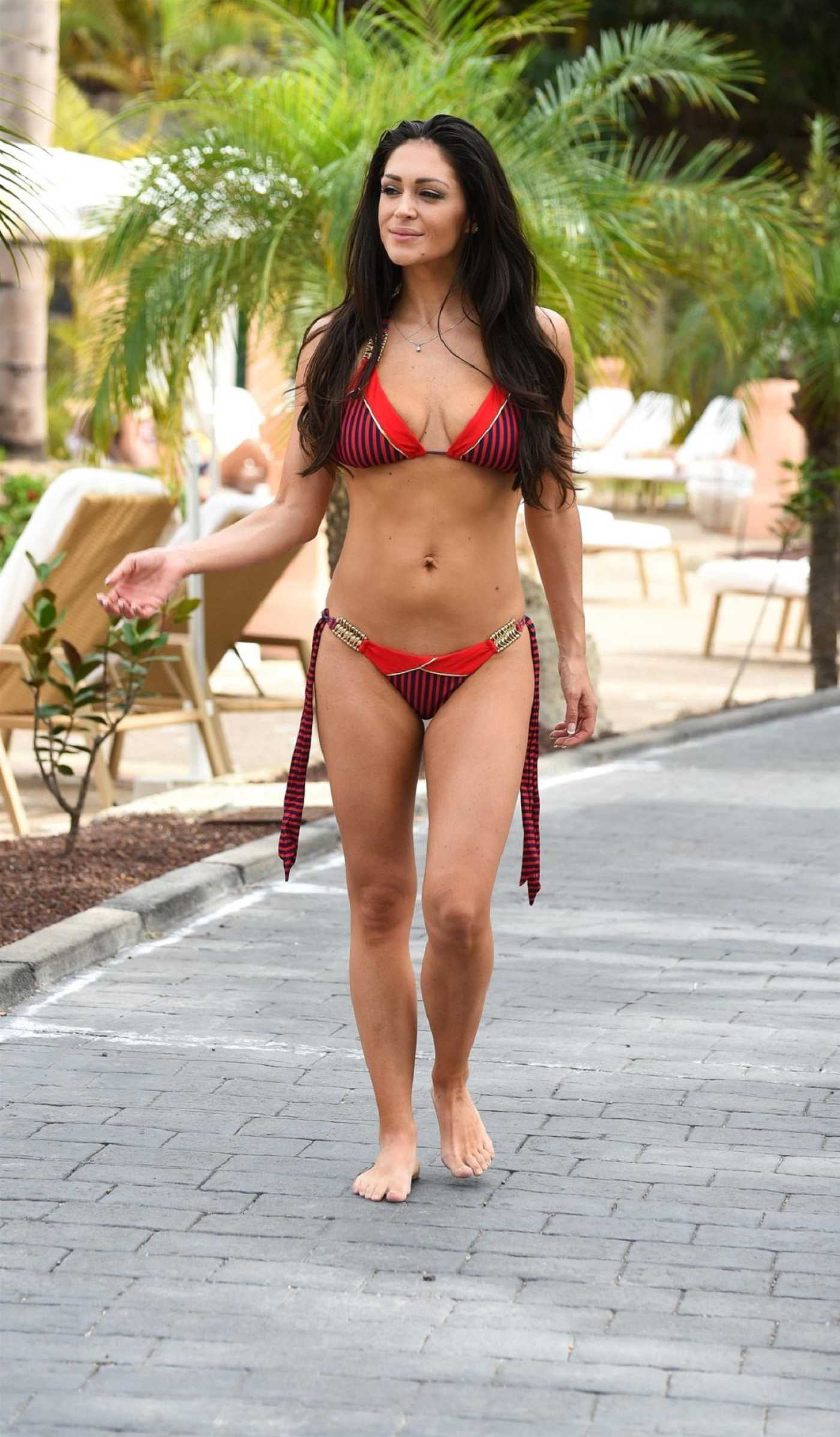 Casey Batchelor in a Red Bikini on Holiday in Italy 06/08/2019