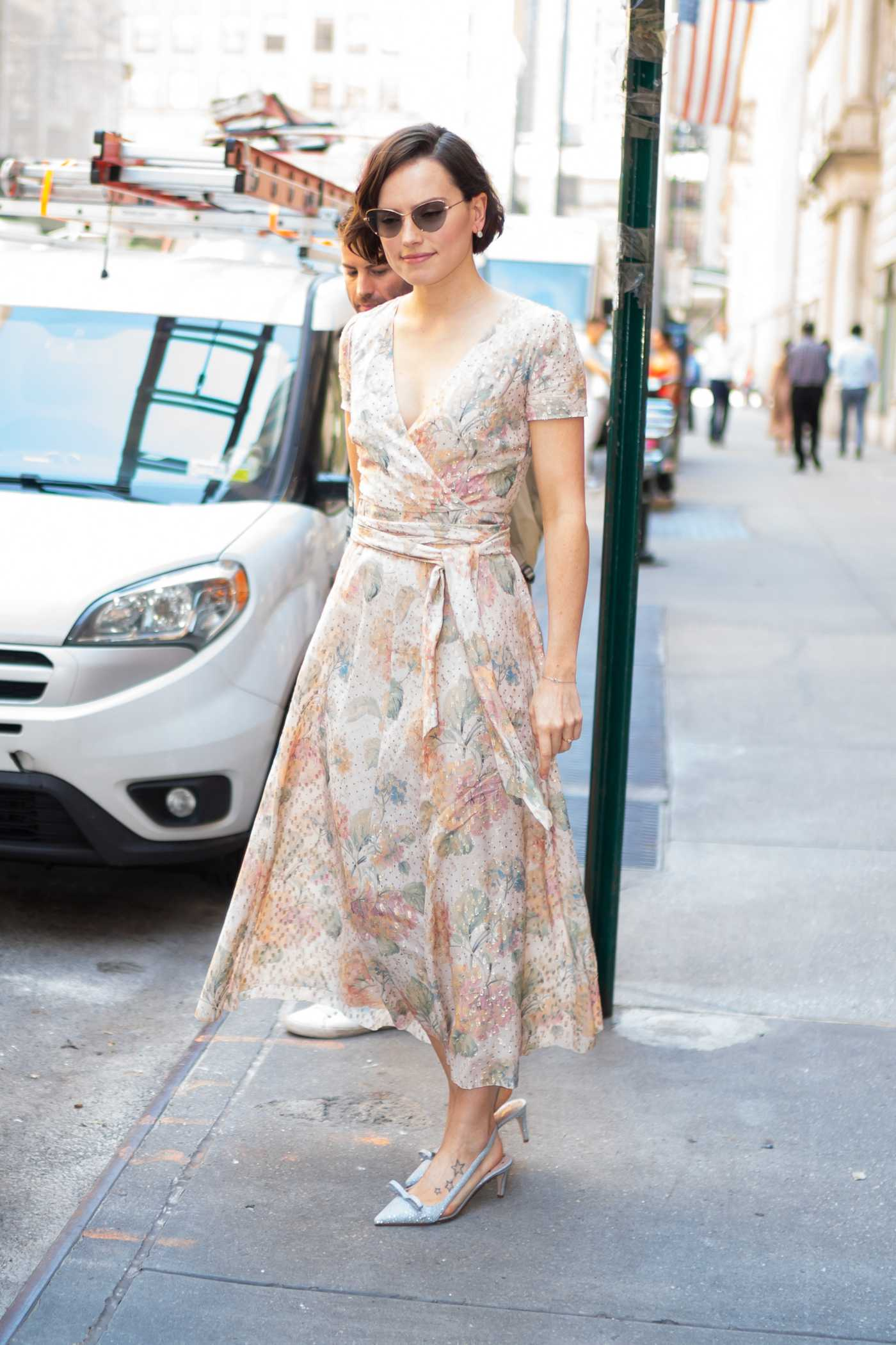Daisy Ridley in a Floral Dress Was Seen Out in New York City 06/26/2019