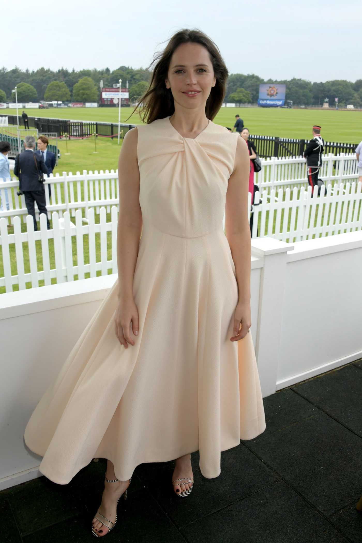 Felicity Jones Attends The Royal Windsor Cup Final at Guards Polo Club in Egham 06/23/2019