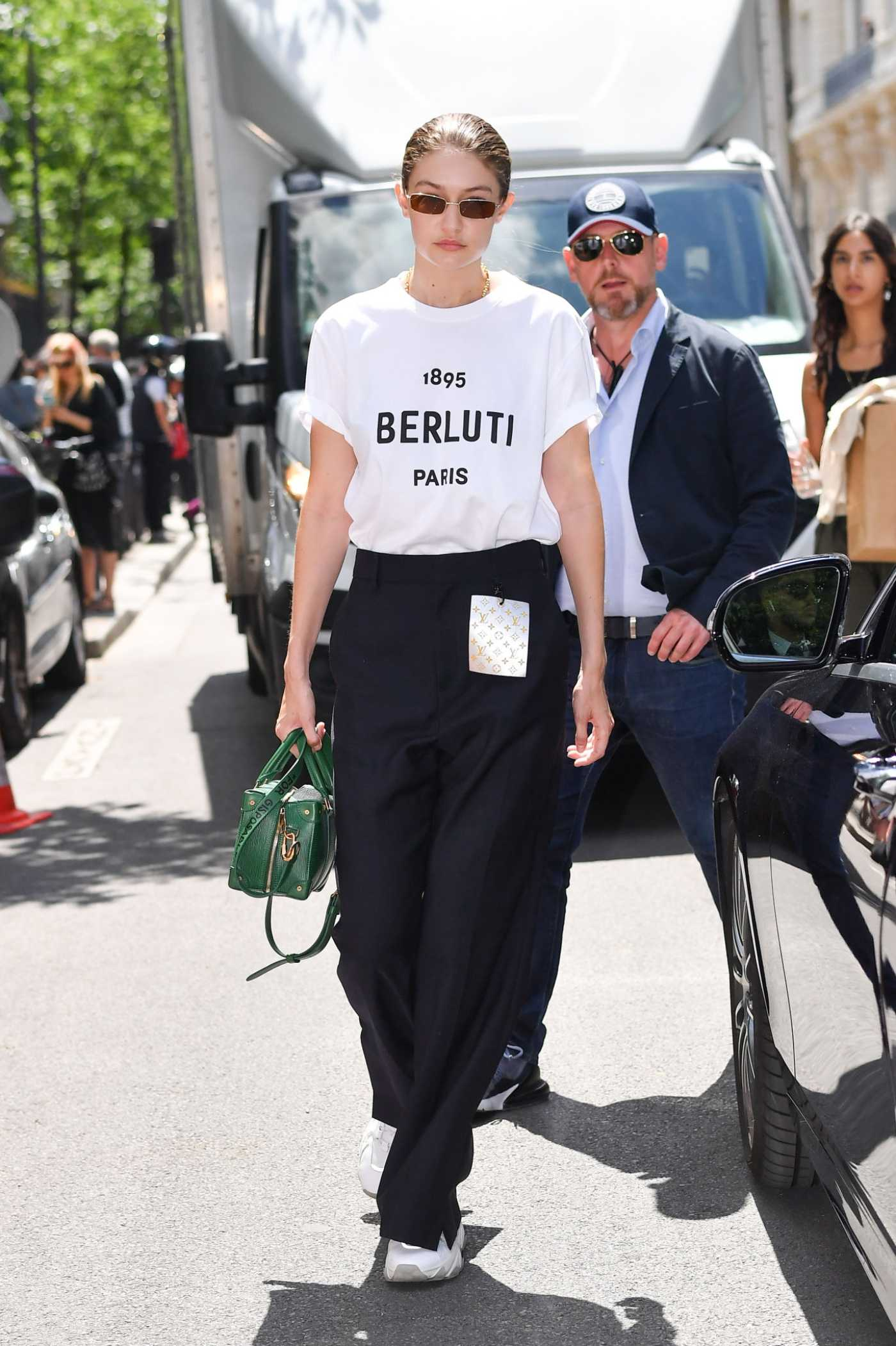 Gigi Hadid Arrives at 2020 Berluti Menswear Spring Summer Show in Paris 06/21/2019