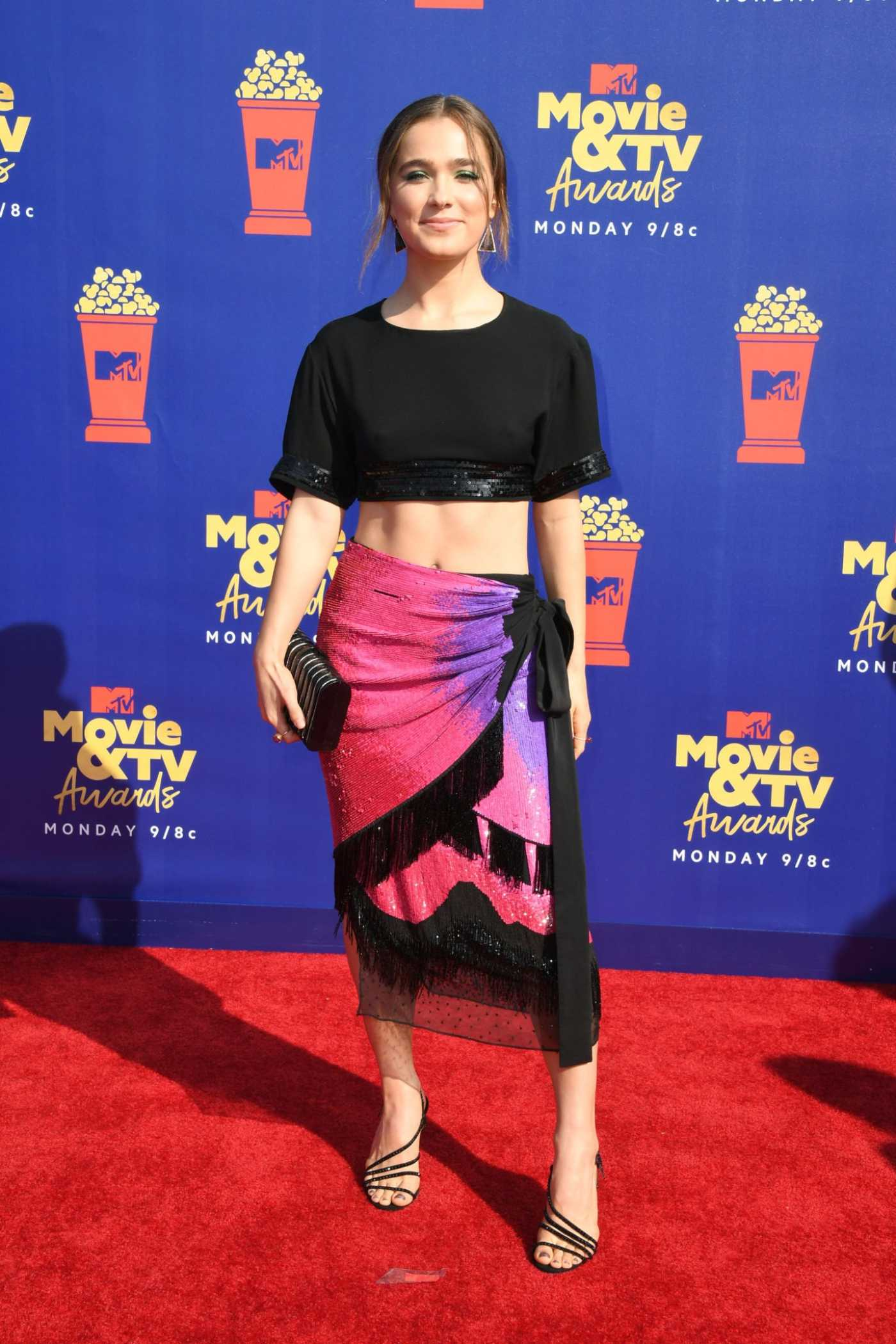 Haley Lu Richardson Attends 2019 MTV Movie and TV Awards at Barker Hangar in Santa Monica 06/15/2019
