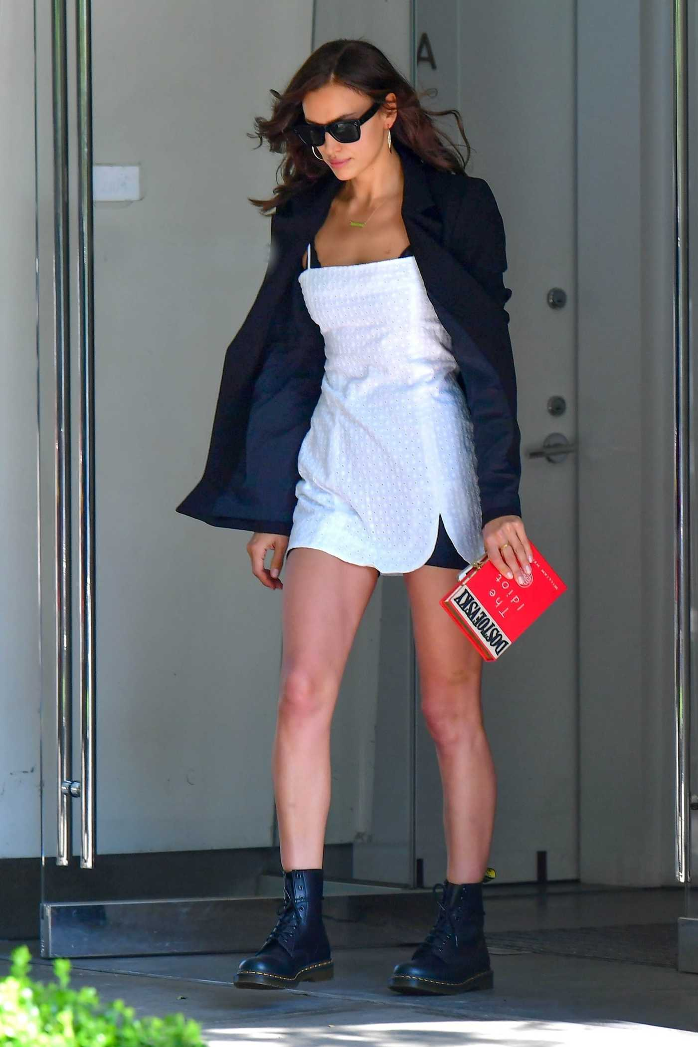 Irina Shayk in a Black Blazer Was Seen Out in New York City 06/28/2019