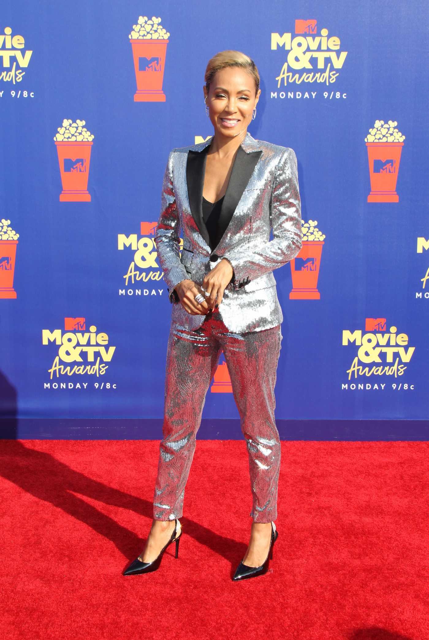 Jada Pinkett Smith Attends 2019 MTV Movie and TV Awards at Barker Hangar in Santa Monica 06/15/2019