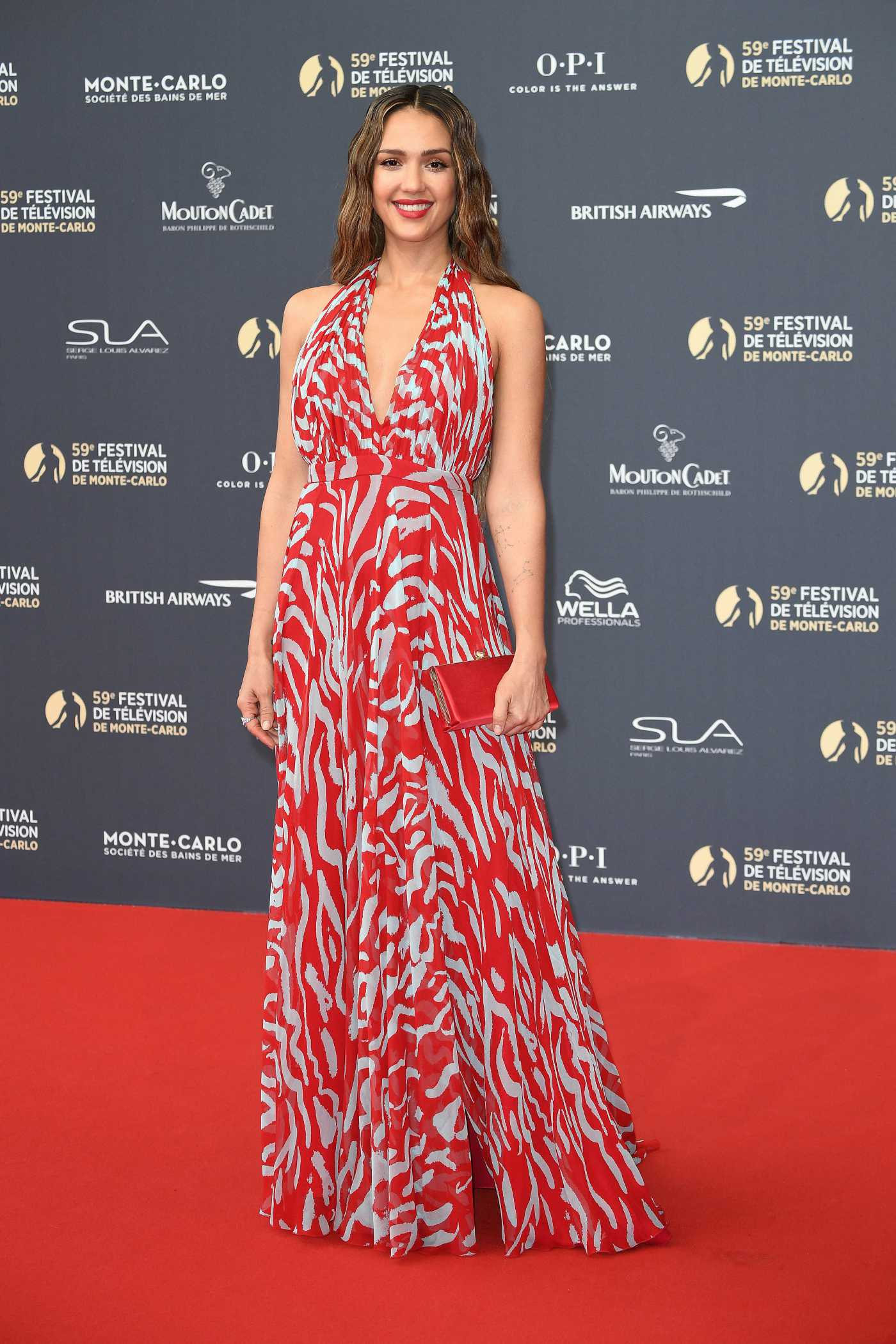 Jessica Alba Attends the 59th Monte Carlo TV Festival Opening Ceremony in Monte Carlo 06/14/2019