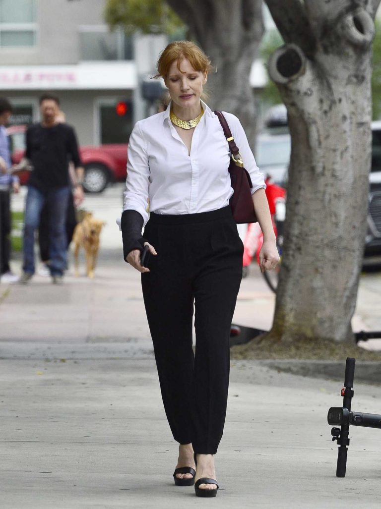 Jessica Chastain in a Black Pants