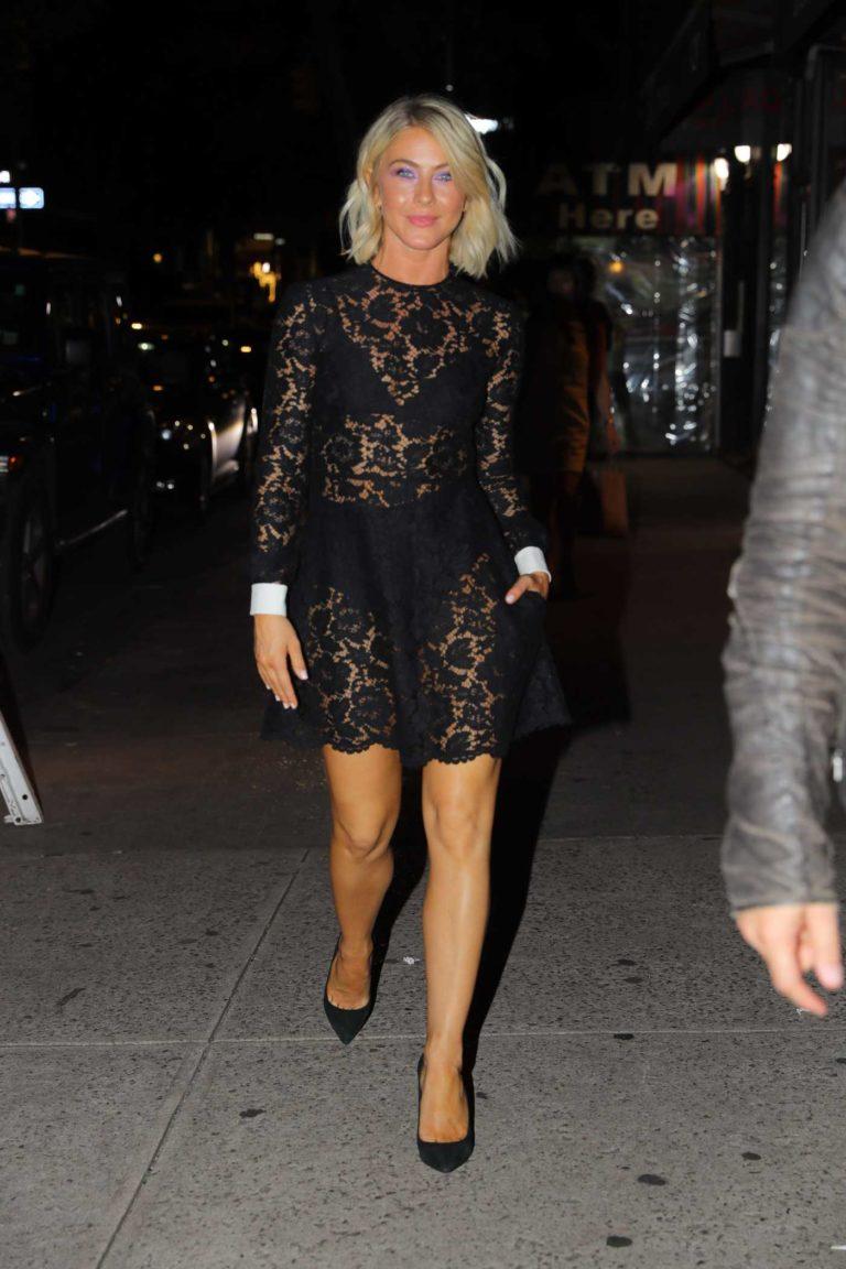 Julianne Hough in a Black Dress