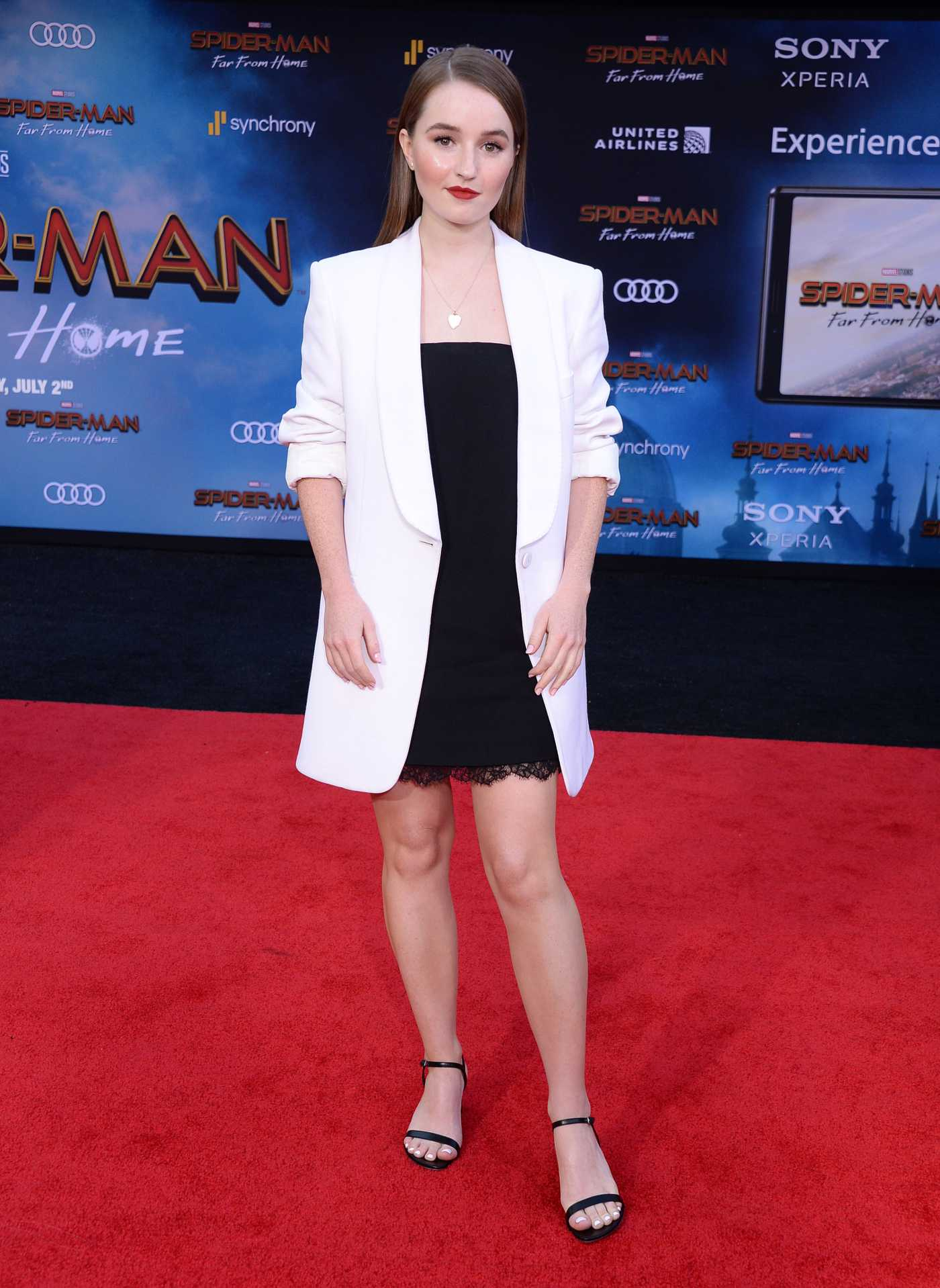 Kaitlyn Dever Attends the Spider-Man Far From Home Premiere at TCL Chinese Theatre in Hollywood 06/26/2019