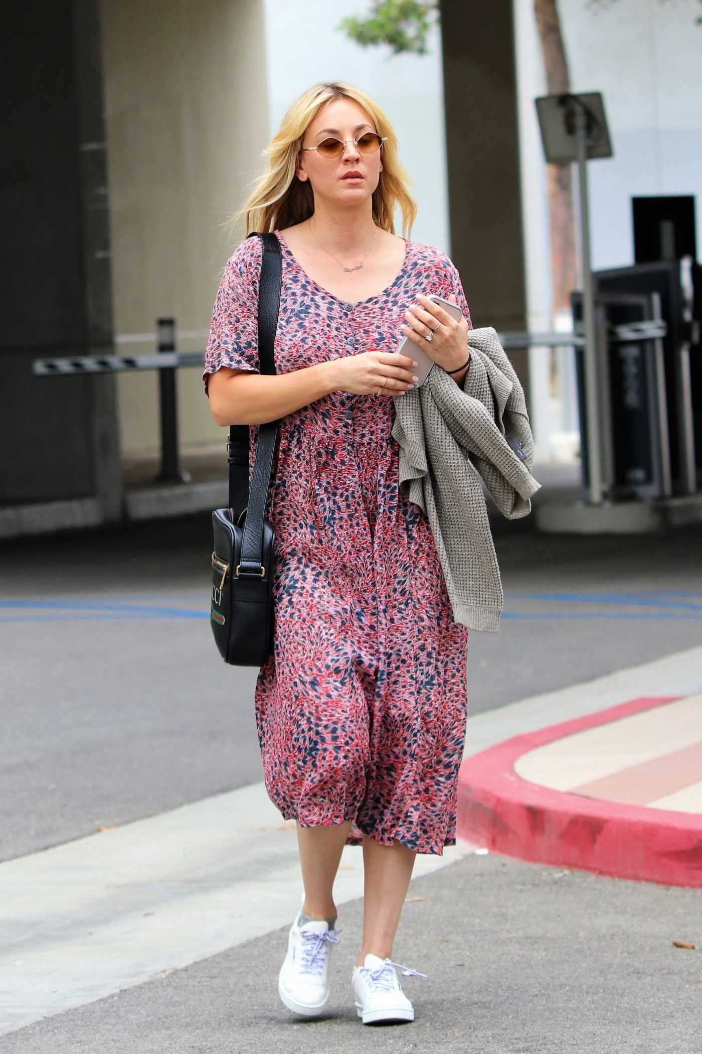 Kaley Cuoco in a White Sneakers Was Seen Out in Los Angeles 06/24/2019