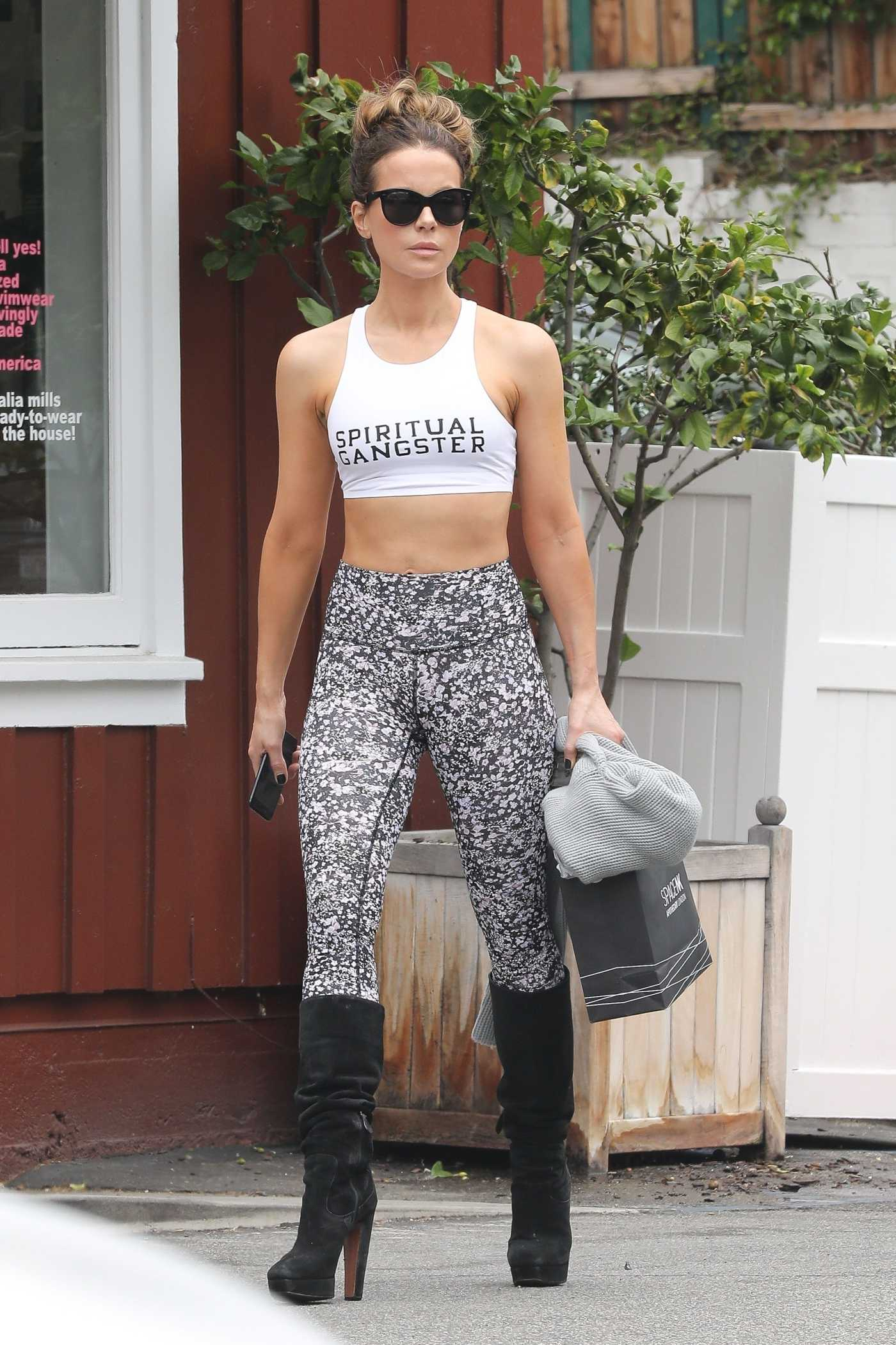 Kate Beckinsale in a White Sports Bra Was Seen Out in Brentwood 06/14/2019