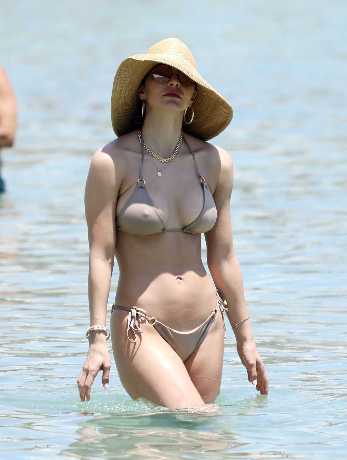 Katharine McPhee in a Bikini on the Beach in Mykonos 06/24/2019