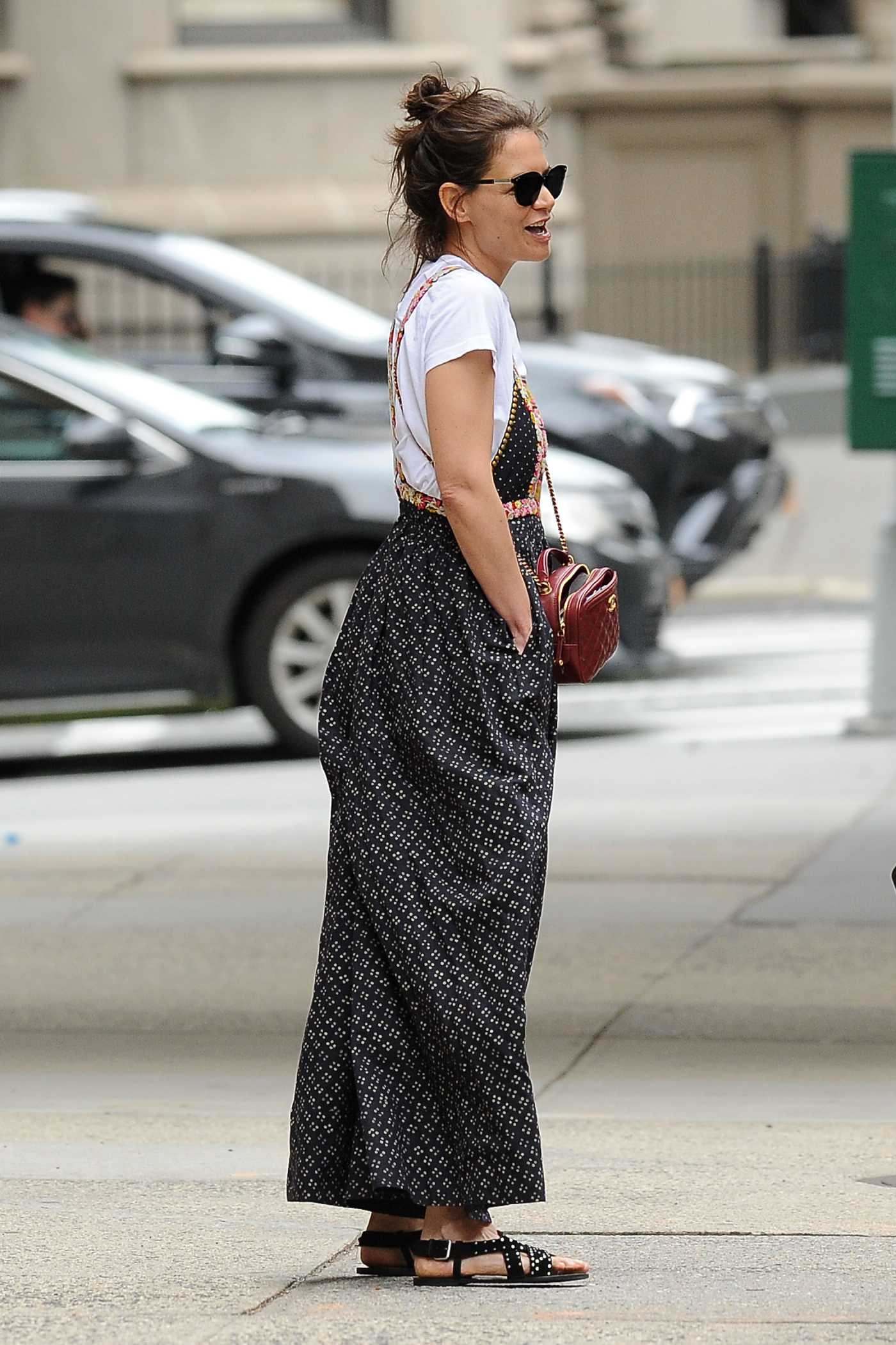 Katie Holmes in a White Tee Was Seen Out in New York 05/29/2019