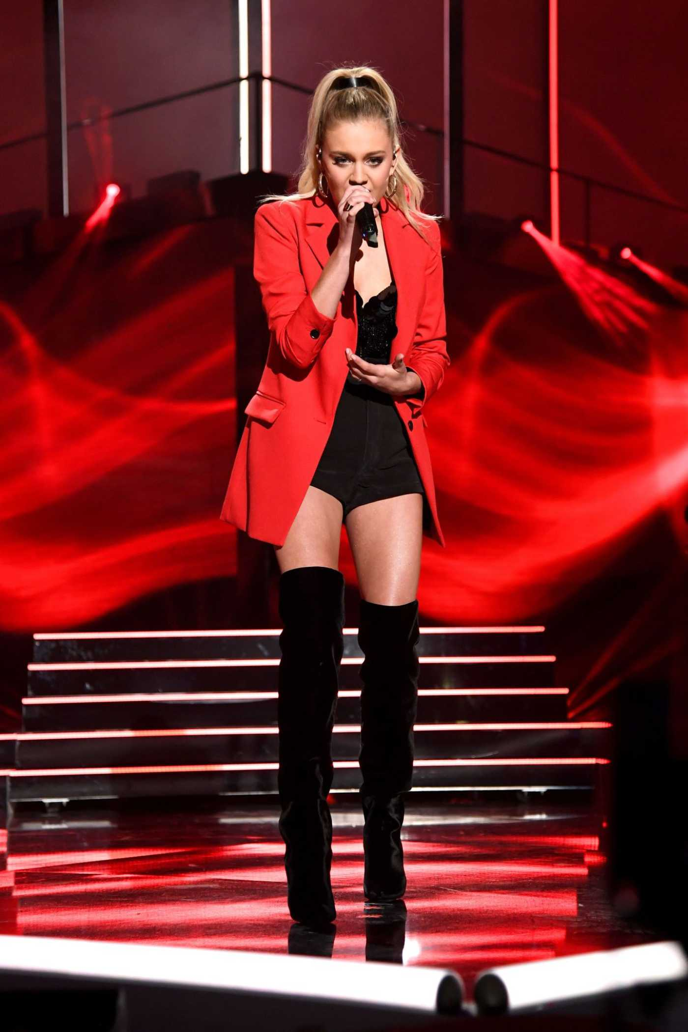 Kelsea Ballerini Performs Miss Me More During the 2019 CMT Music Awards at Bridgestone Arena in Nashville 06/05/2019