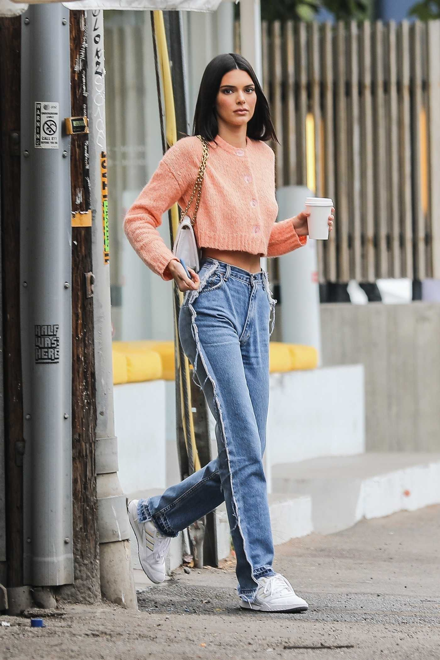 Kendall Jenner in a White Sneakers Was Seen Out in West Hollywood 06/25/2019