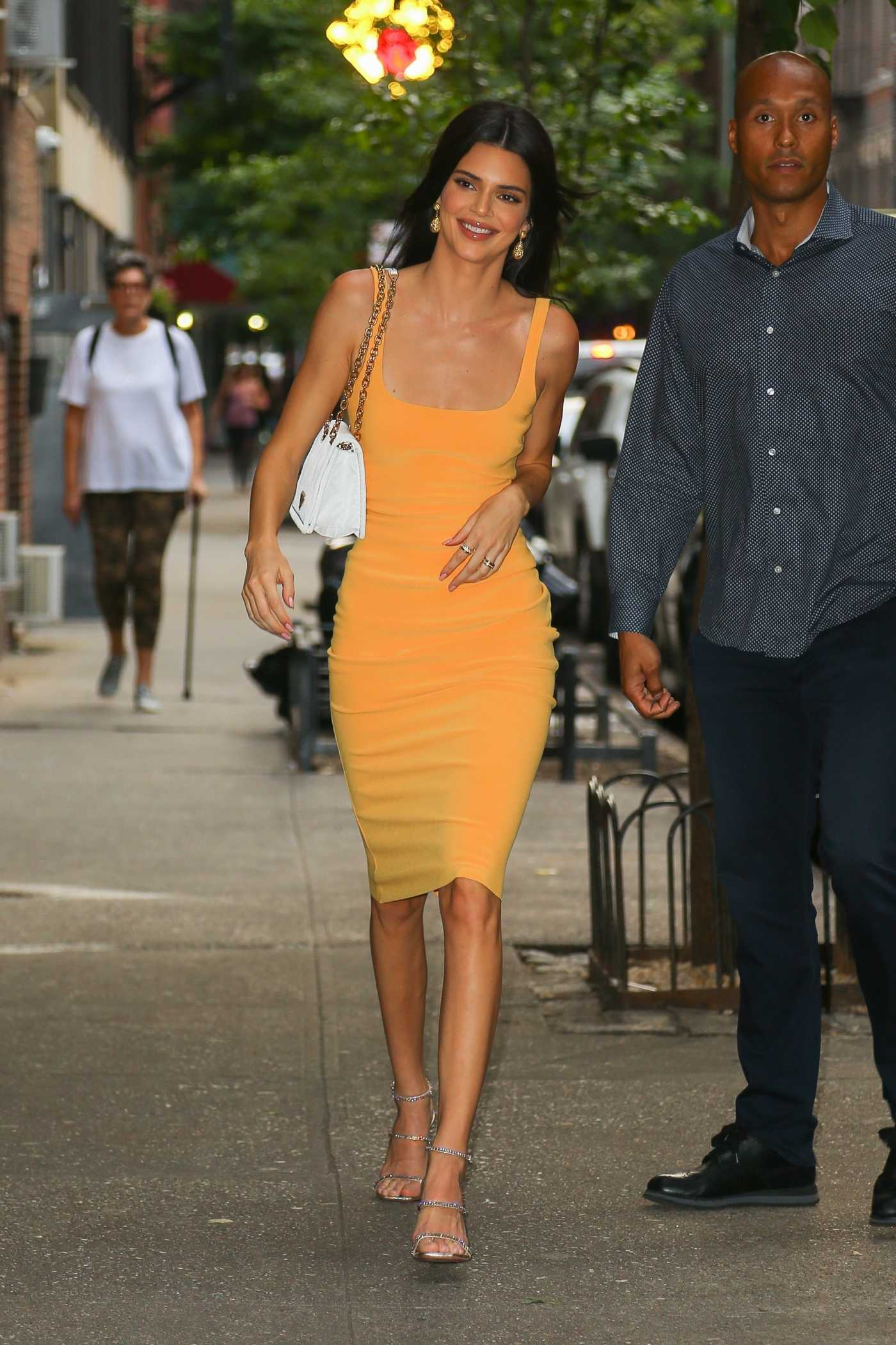 Kendall Jenner in a Yellow Dress Was Seen Out in New York 06/17/2019