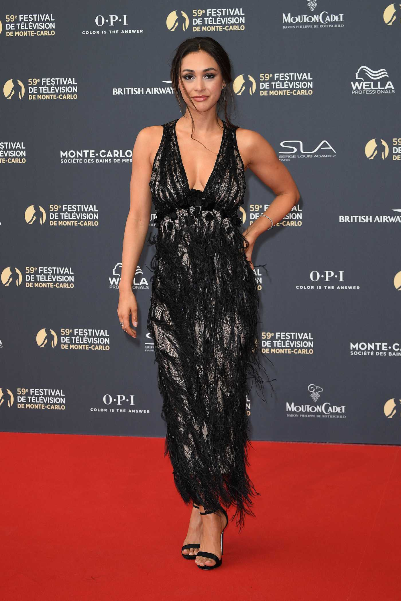 Lindsey Morgan Attends the 59th Monte Carlo TV Festival Opening Ceremony in Monte-Carlo 06/14/2019