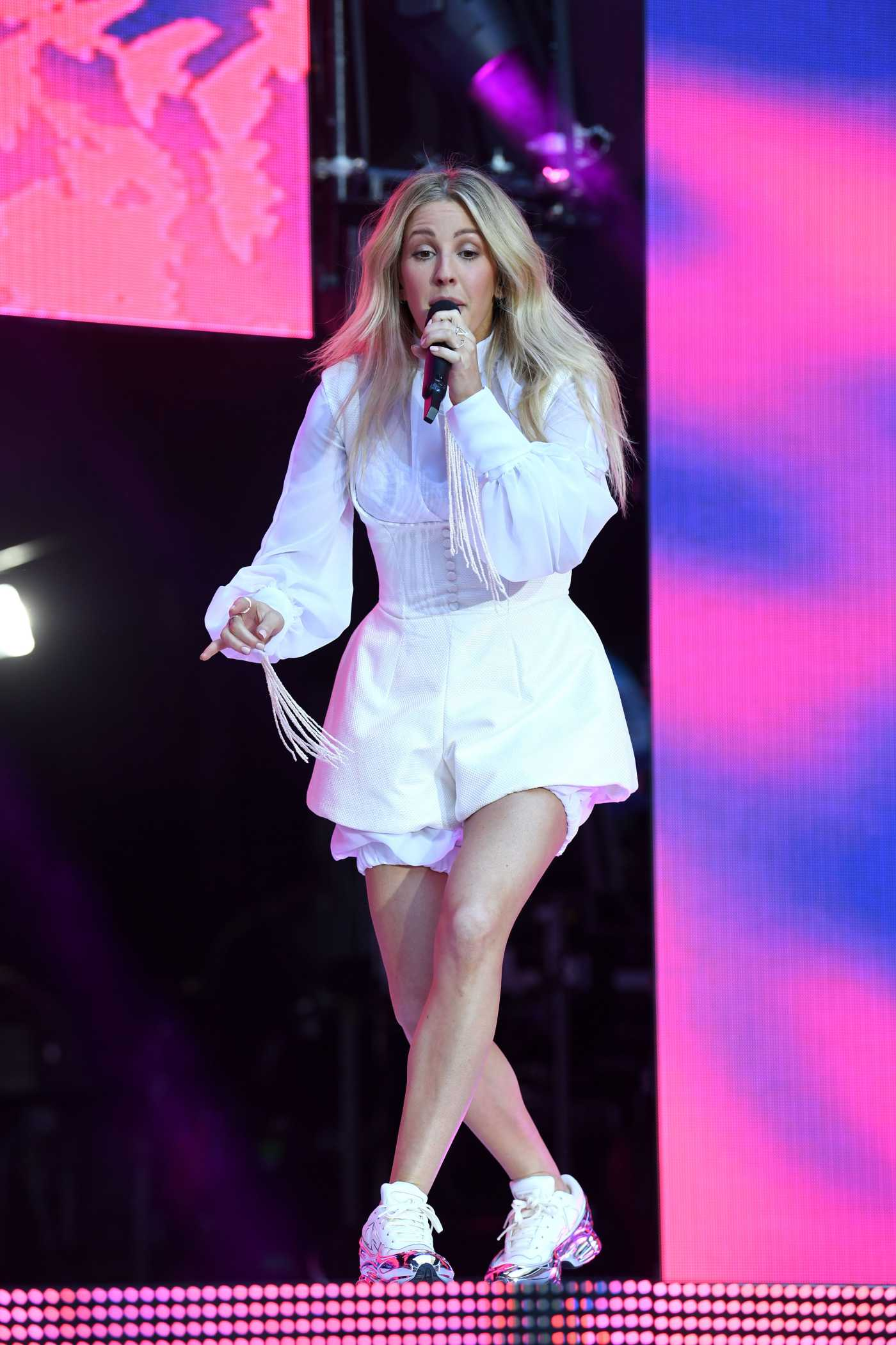 Ellie Goulding Performs During 2019 Capital FM Summertime Ball in London 06/08/2019
