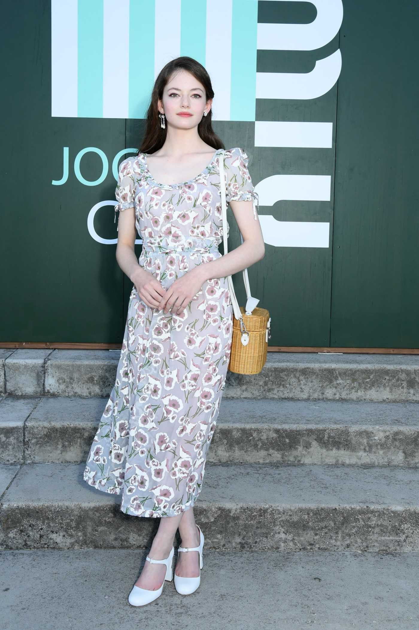 Mackenzie Foy Attends the Miu Miu Club Event in Paris 06/29/2019