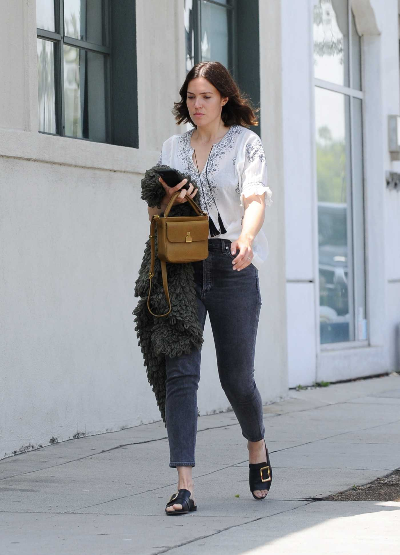 Mandy Moore in a White Blouse Was Seen Out in Los Angeles 06/01/2019