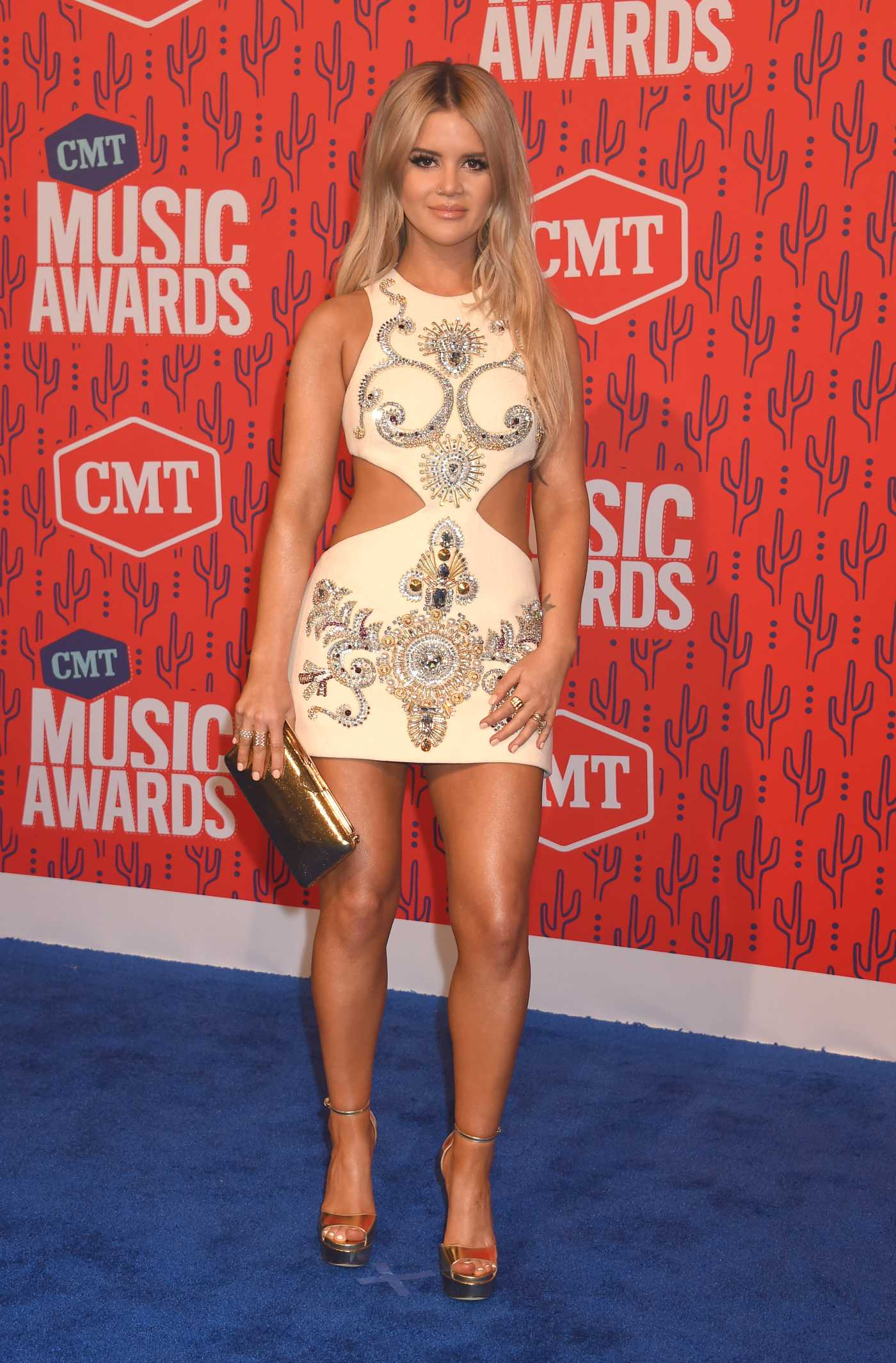 Maren Morris Attends 2019 CMT Music Awards at Bridgestone Arena in Nashville 06/05/2019