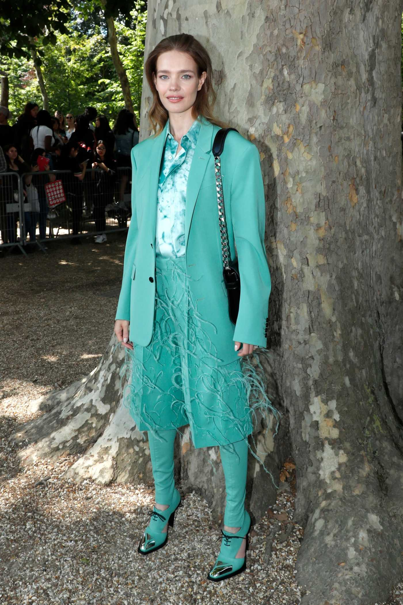 Natalia Vodianova Arrives at 2020 Berluti Menswear Spring Summer Show in Paris 06/21/2019