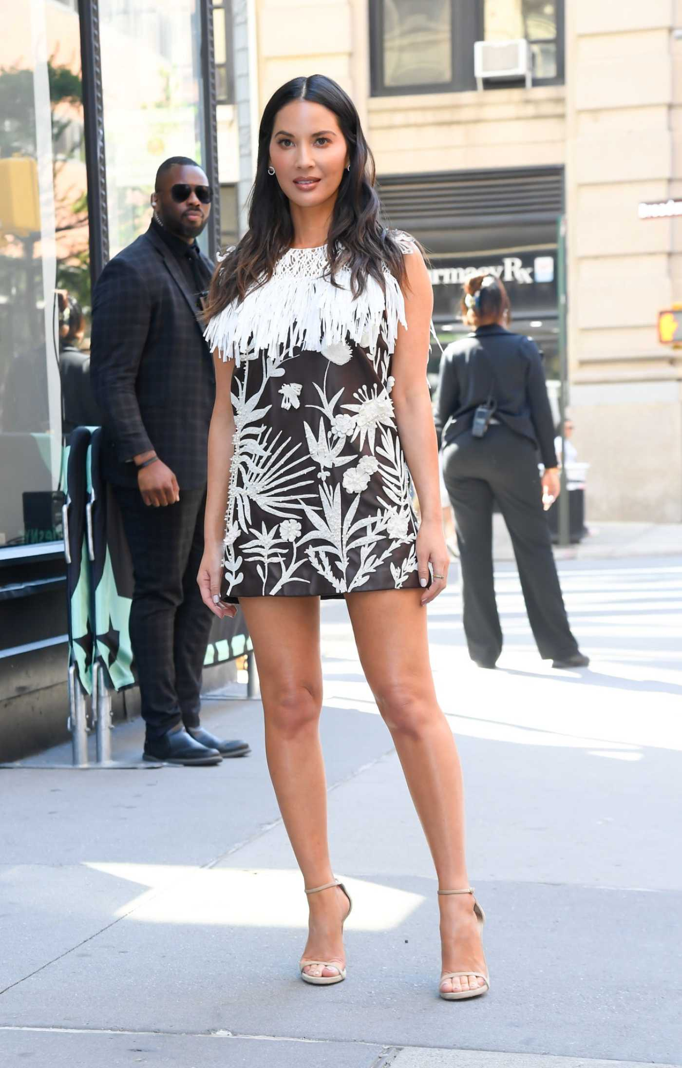 Olivia Munn in a Short Summer Dress Was Seen Out in NYC 06/26/2019