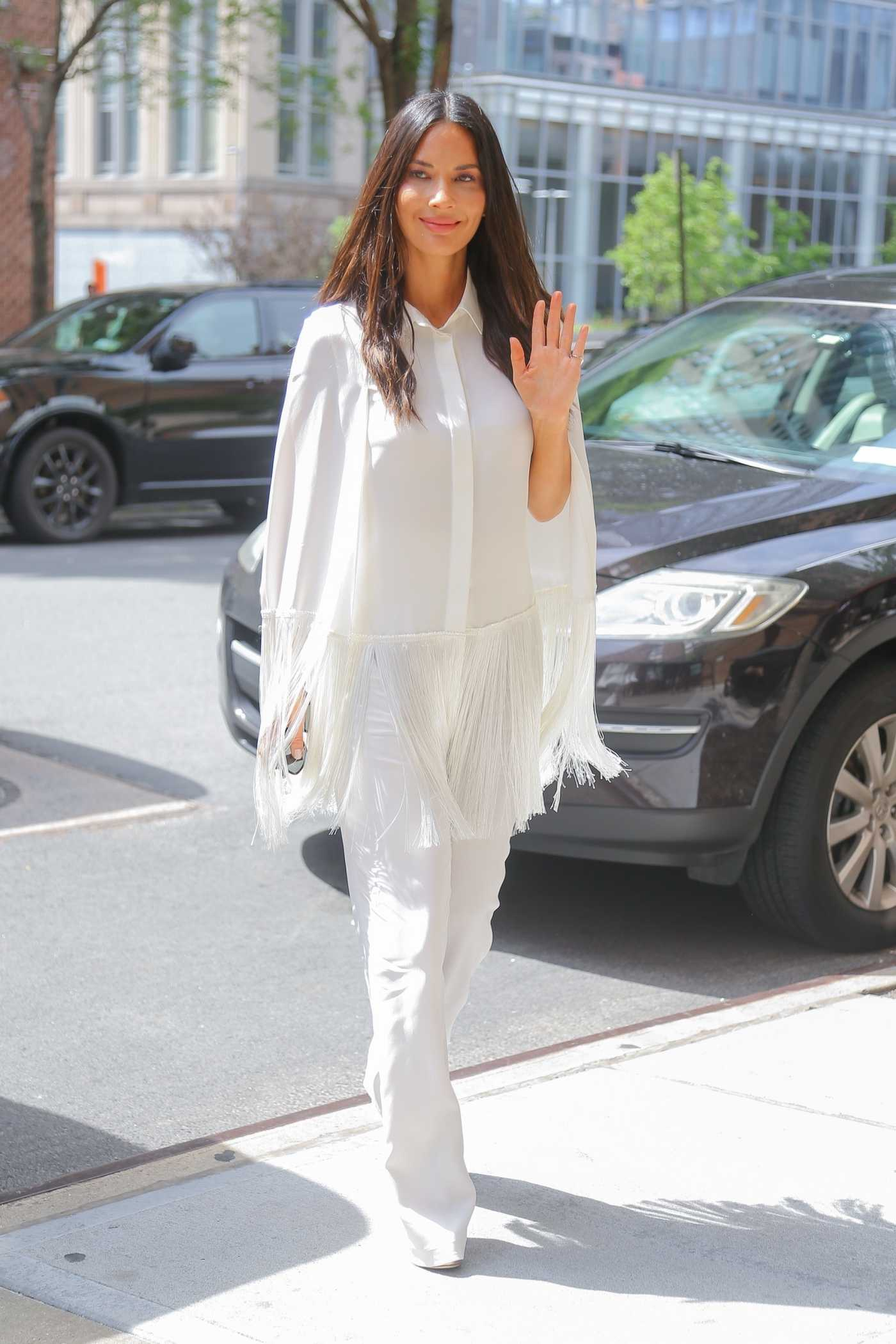 Olivia Munn in a White Pants Was Seen Out in New York 06/25/2019