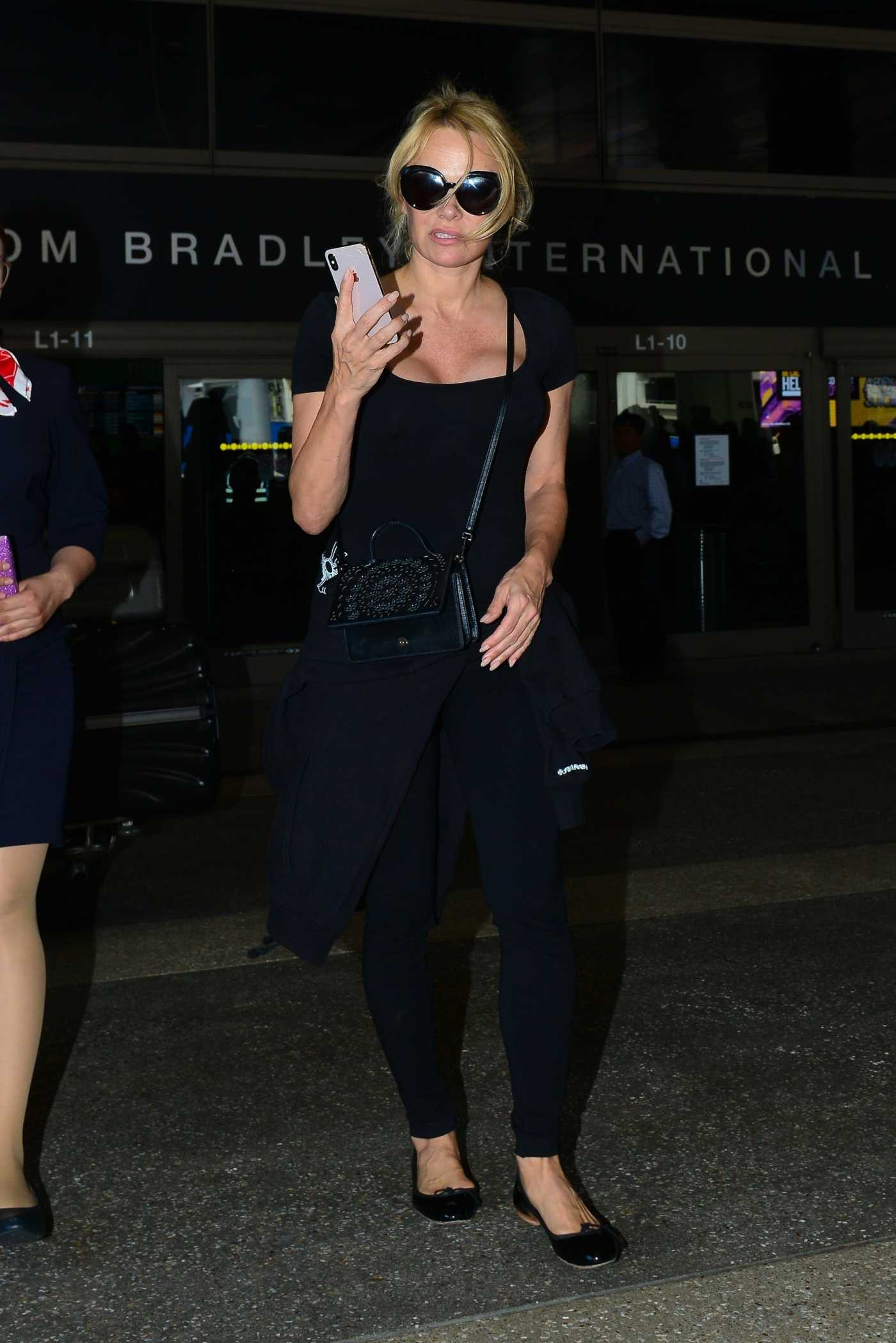 Pamela Anderson Arrives at LAX Airport in LA 06/05/2019