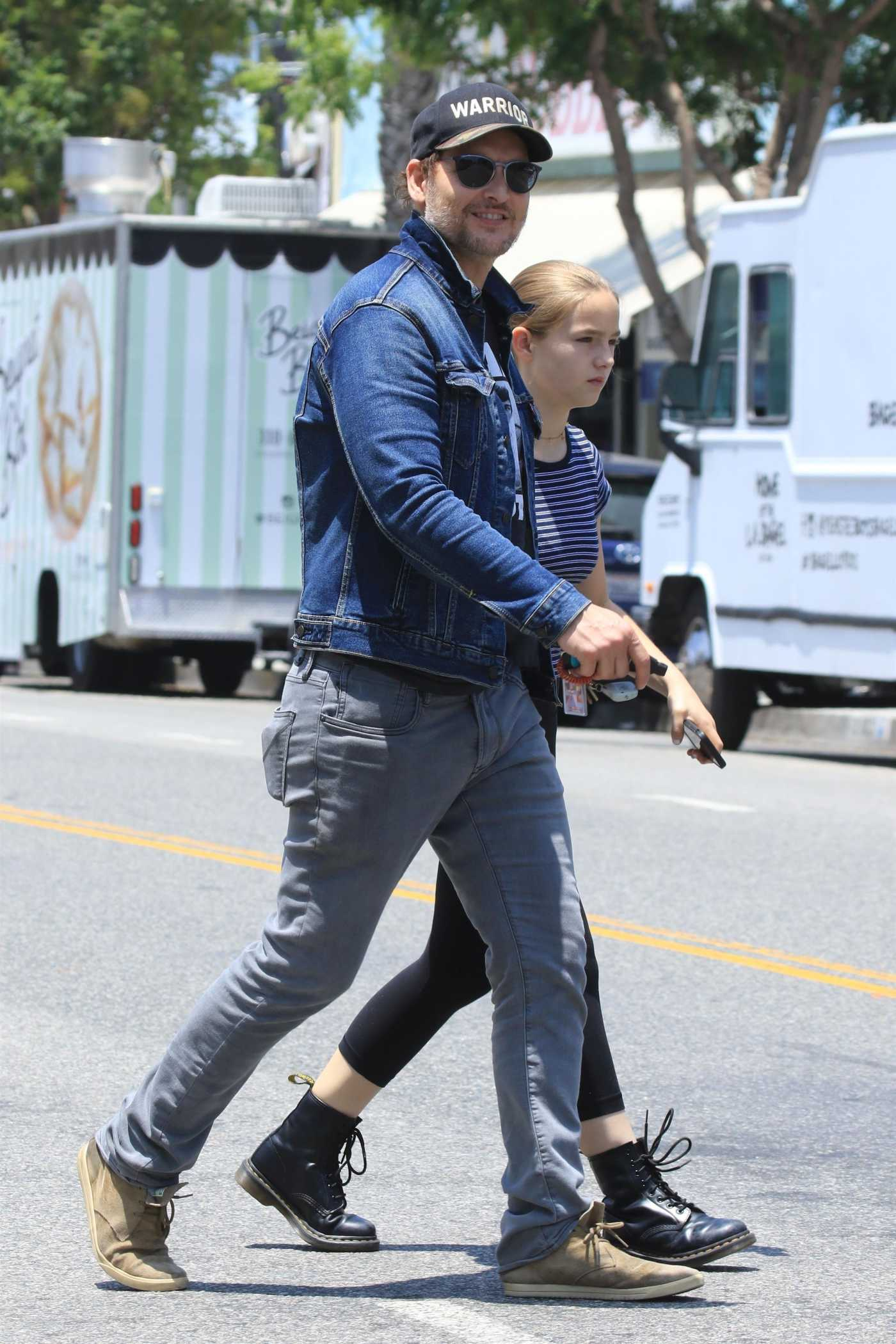 Peter Facinelli in a Blue Denim Jacket Was Seen Out in Los Angeles 06/17/2019