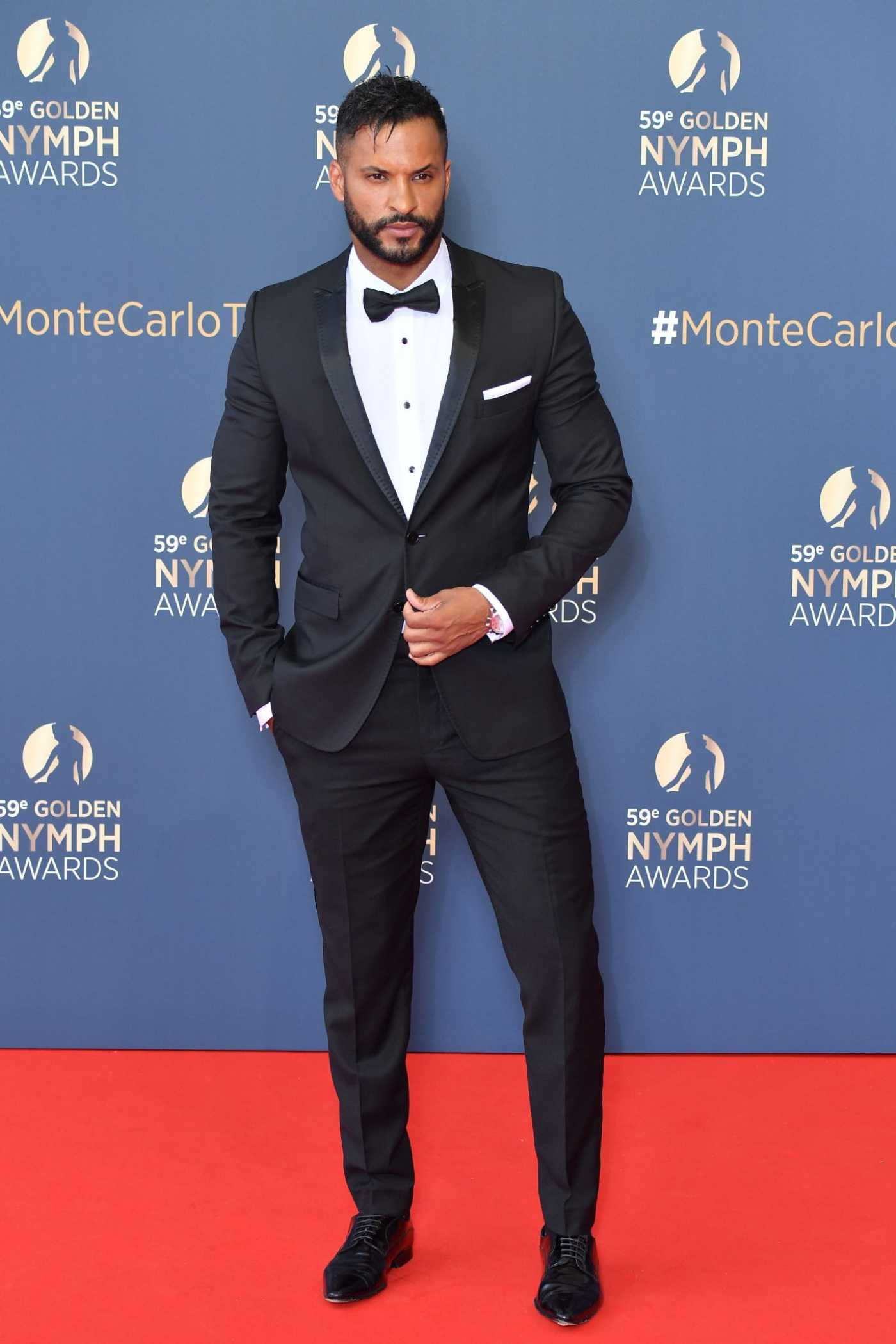Ricky Whittle Attends the Closing Ceremony of the 59th Monte Carlo TV Festival in Monte-Carlo 06/18/2019