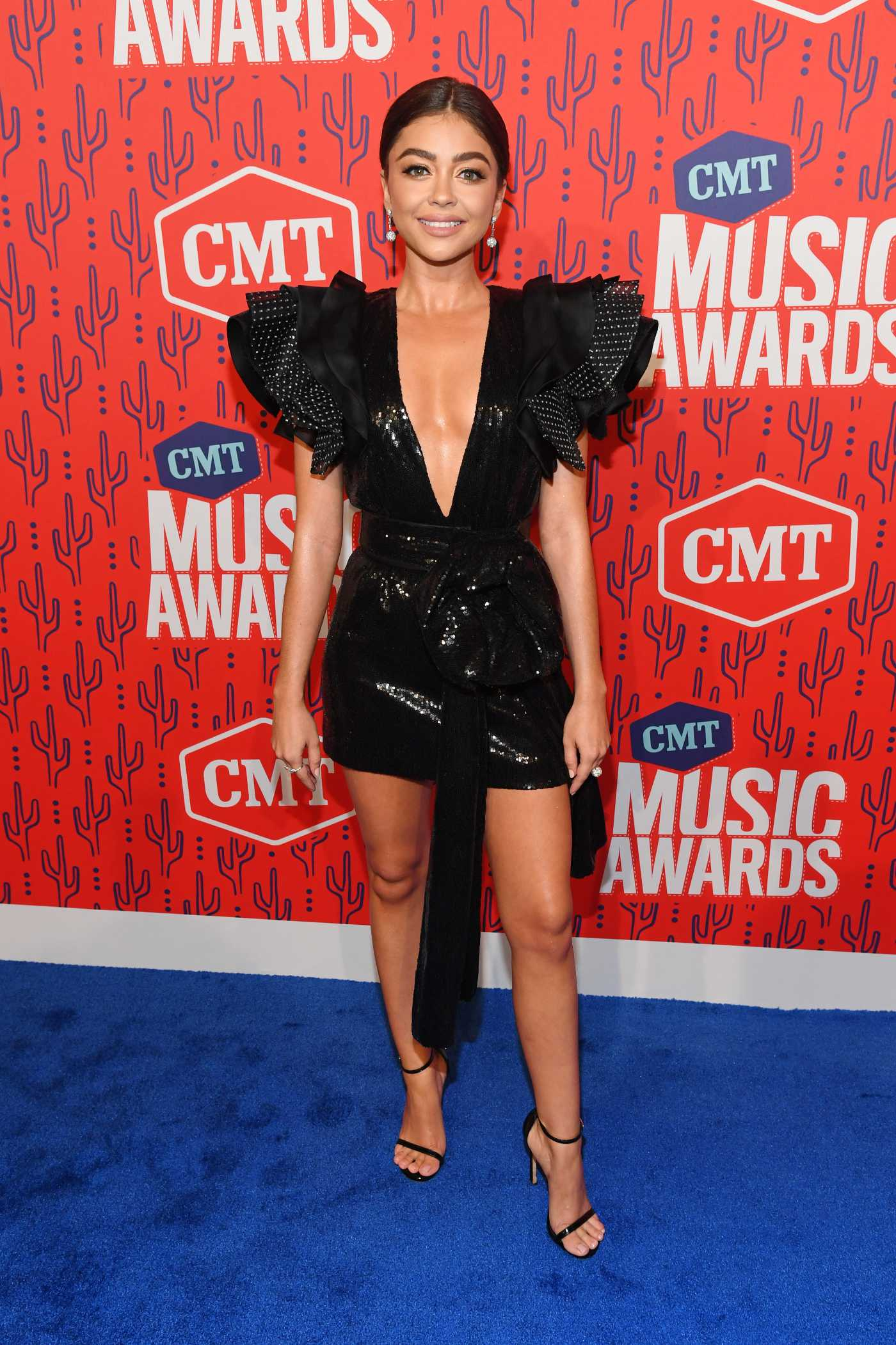 Sarah Hyland Attends 2019 CMT Music Awards at Bridgestone Arena in Nashville 06/05/2019