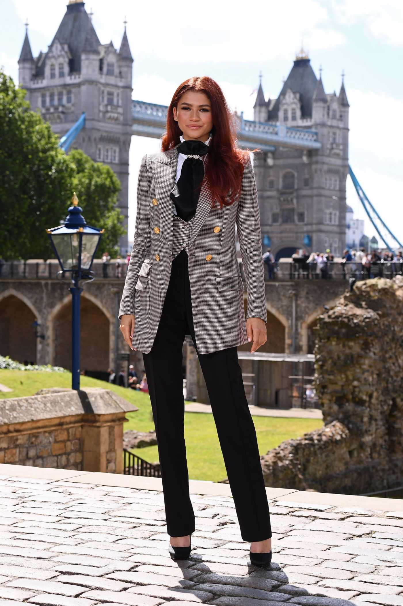 Zendaya Attends the Spider-Man: Far From Home Photocall in London 06/17/2019