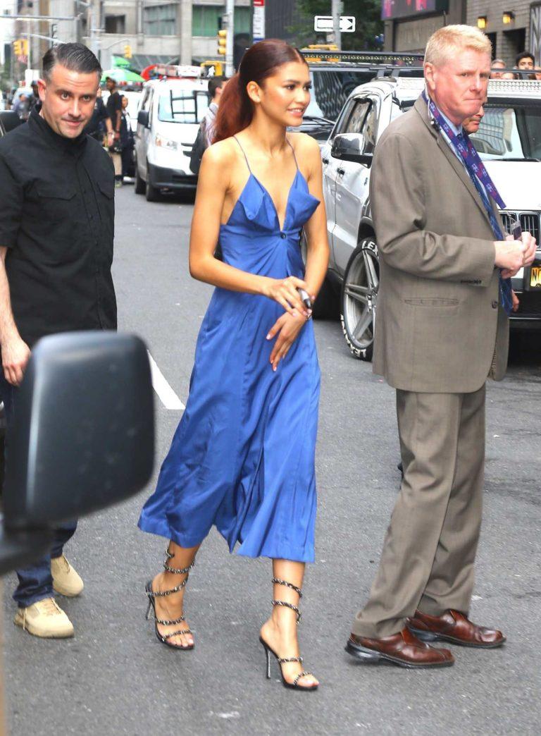 Zendaya in a Bllue Dress