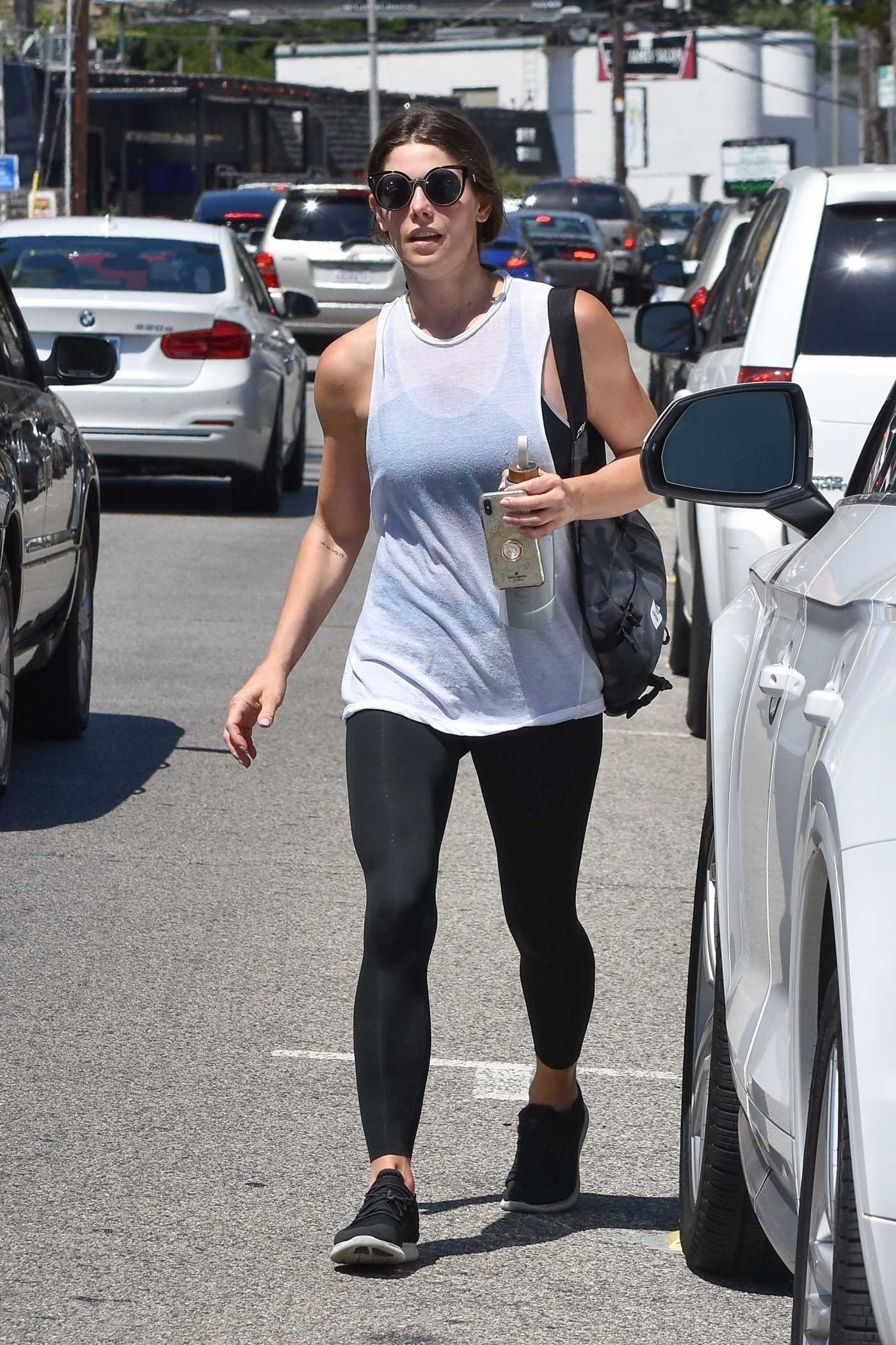 Ashley Greene in a Black Leggings Leaves the Gym in Studio City 07/26/2019
