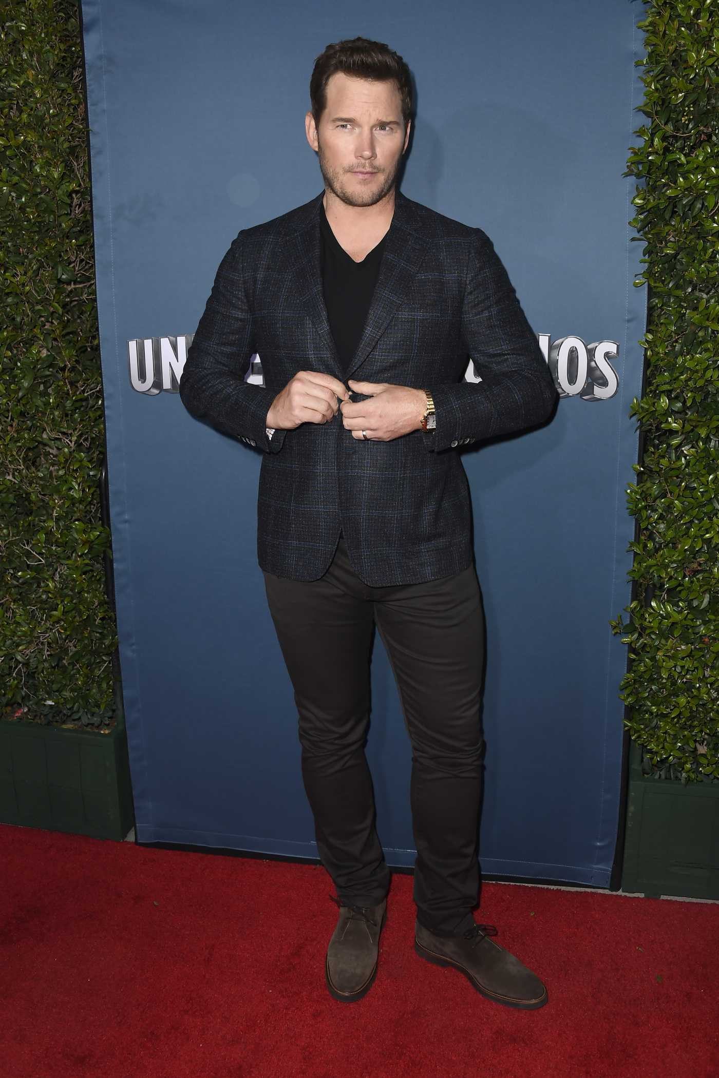 Chris Pratt Attends Jurassic World-The Ride Grand Opening Celebration at Universal Studios Hollywood 07/22/2019