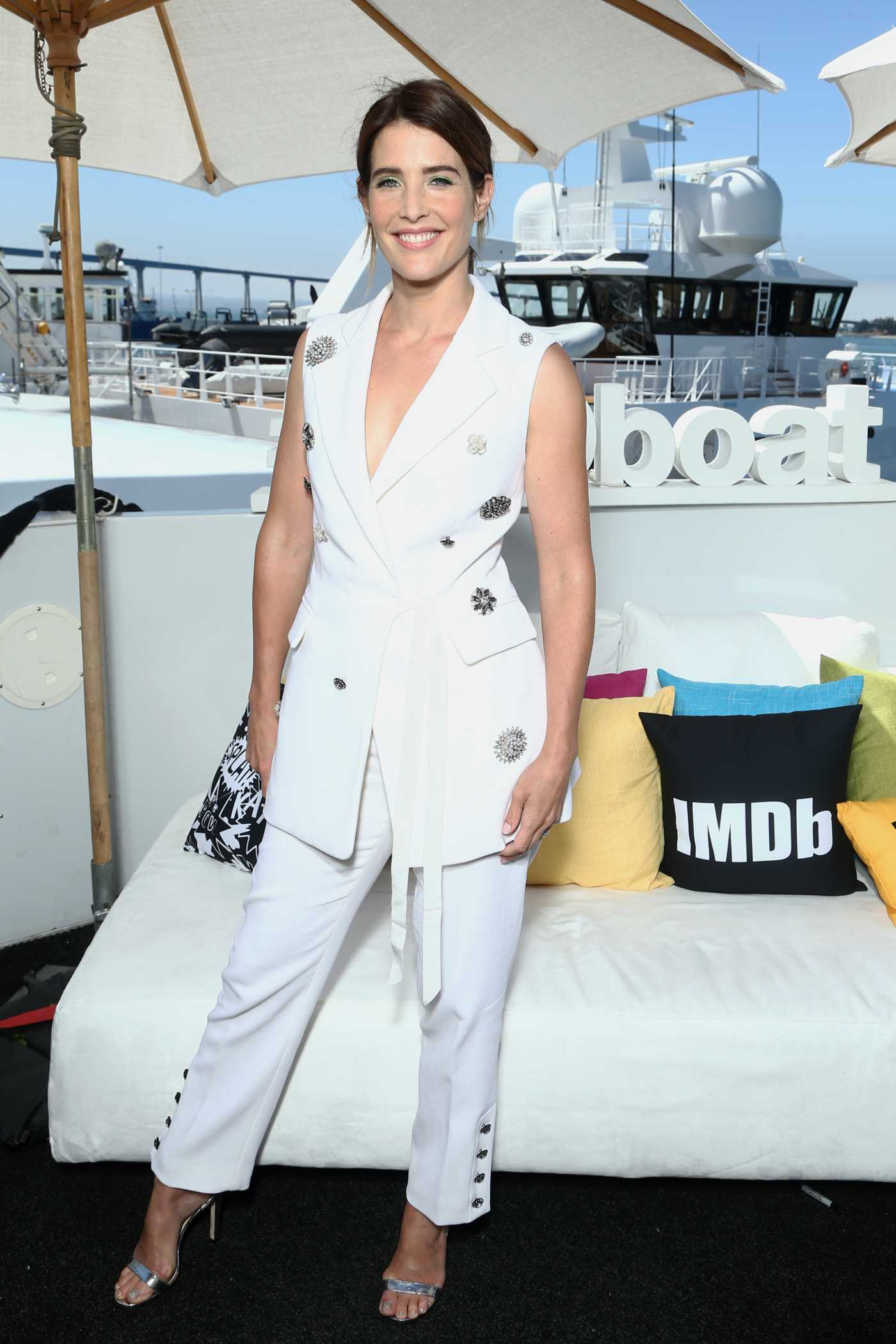 Cobie Smulders Attends the IMDboat During 2019 Comic-Con at the IMDb Yacht in San Diego 07/19/2019