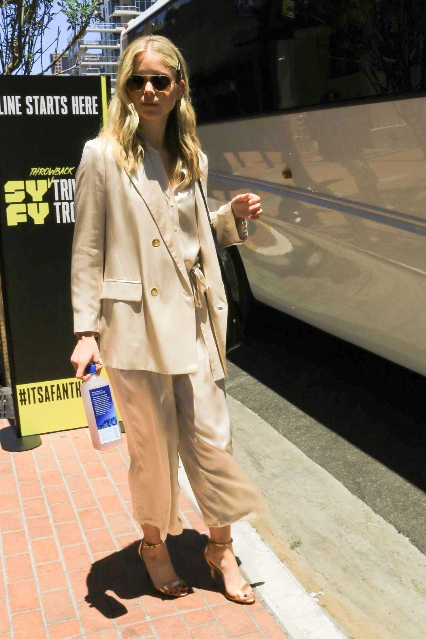 Erin Moriarty in a Beige Suit Was Seen Out in San Diego 07/21/2019