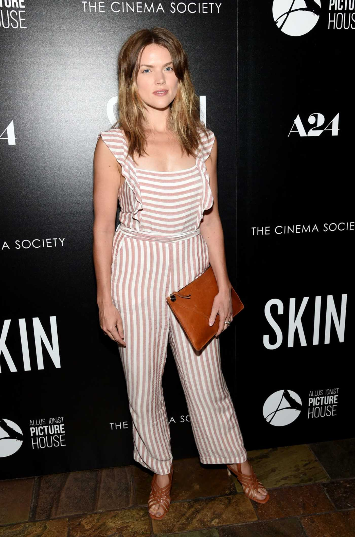 Erin Richards Attends the Skin Screening at the Roxy Cinema in New York City 07/24/2019