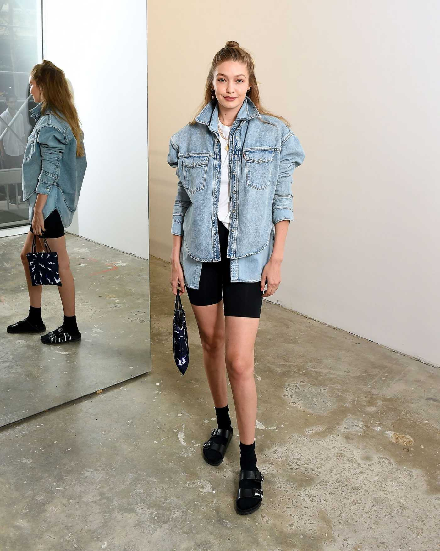 Gigi Hadid Attends WARDROBE.NYC Launch of Release 04 DENIM and Levi's Collaboration in NY 07/17/2019