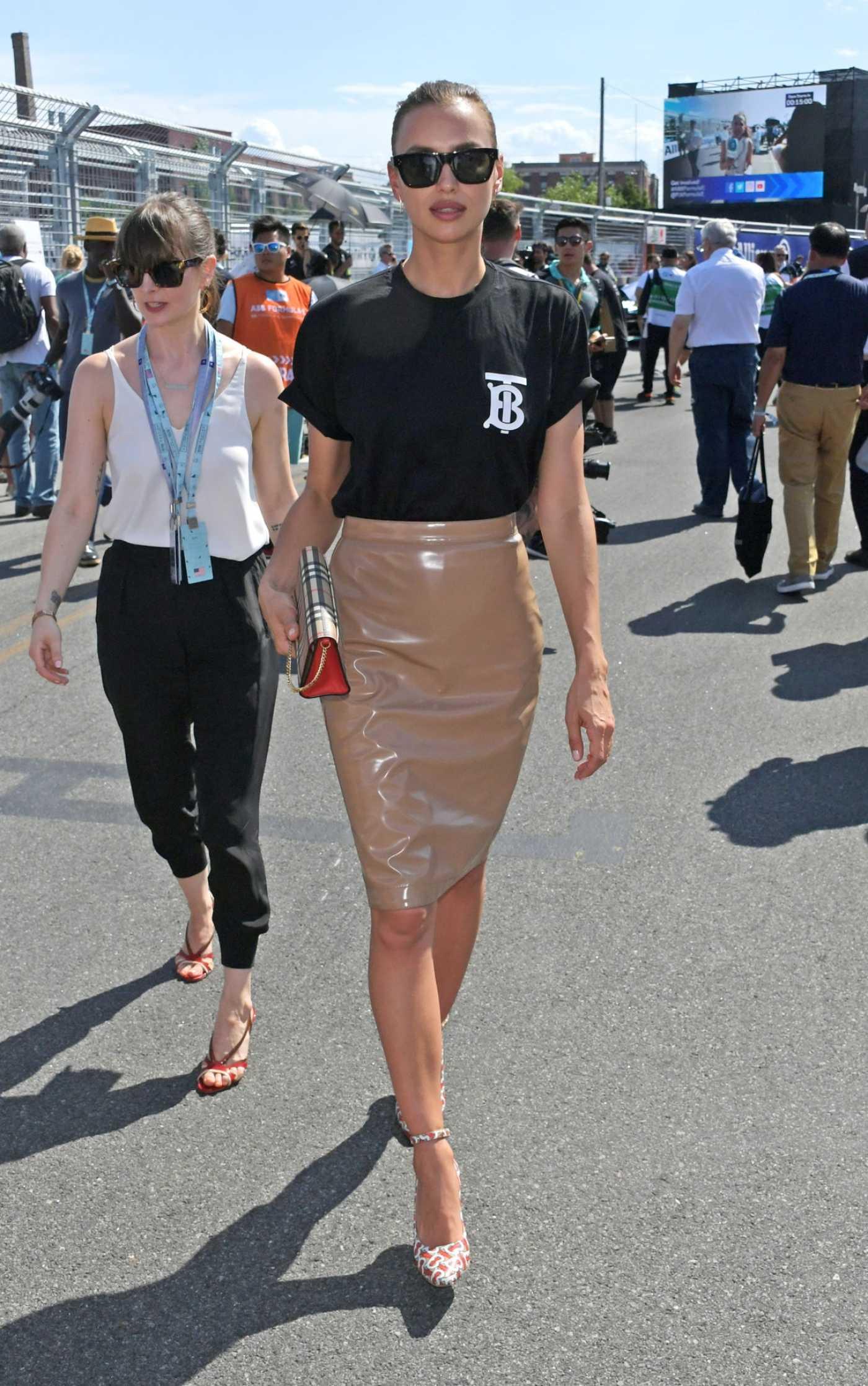Irina Shayk Attends 2019 Formula E-Prix in New York City 07/14/2019
