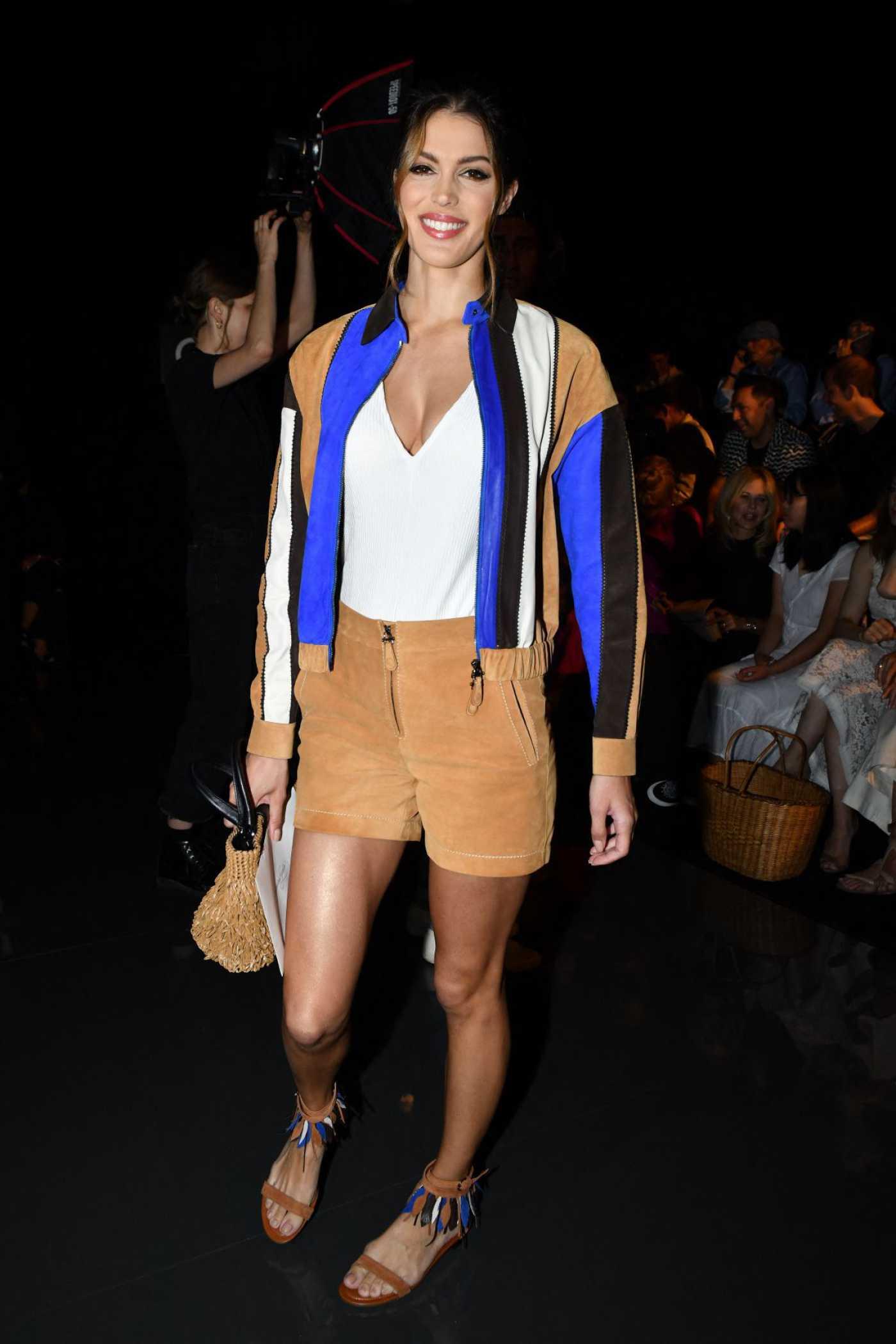 Iris Mittenaere Attends the Schiaparelli Show During 2019 Paris Fashion Week in Paris 07/01/2019