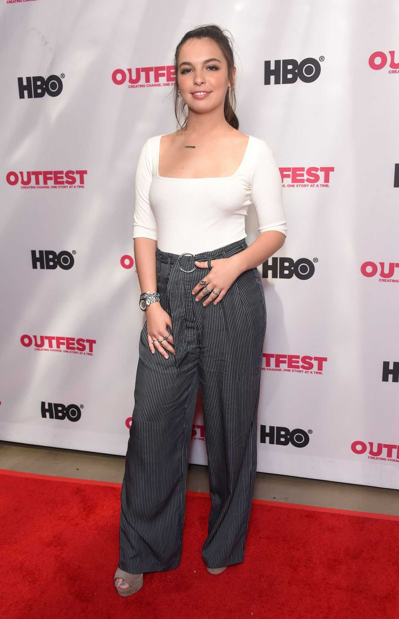 Isabella Gomez Attends Queering the Script Screening During 2019 LGBTQ Film Festival in Los Angeles 07/20/2019