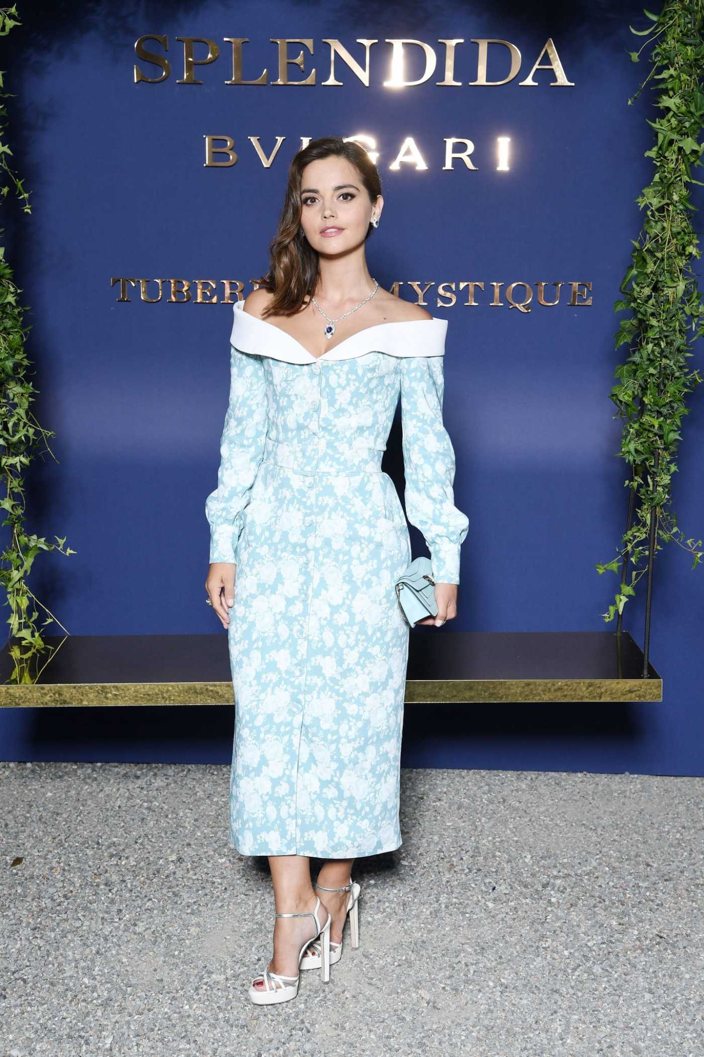 Jenna Coleman Attends the Bvlgari Splendida Tubereuse Mystique Event in Cernobbio 07/09/2019